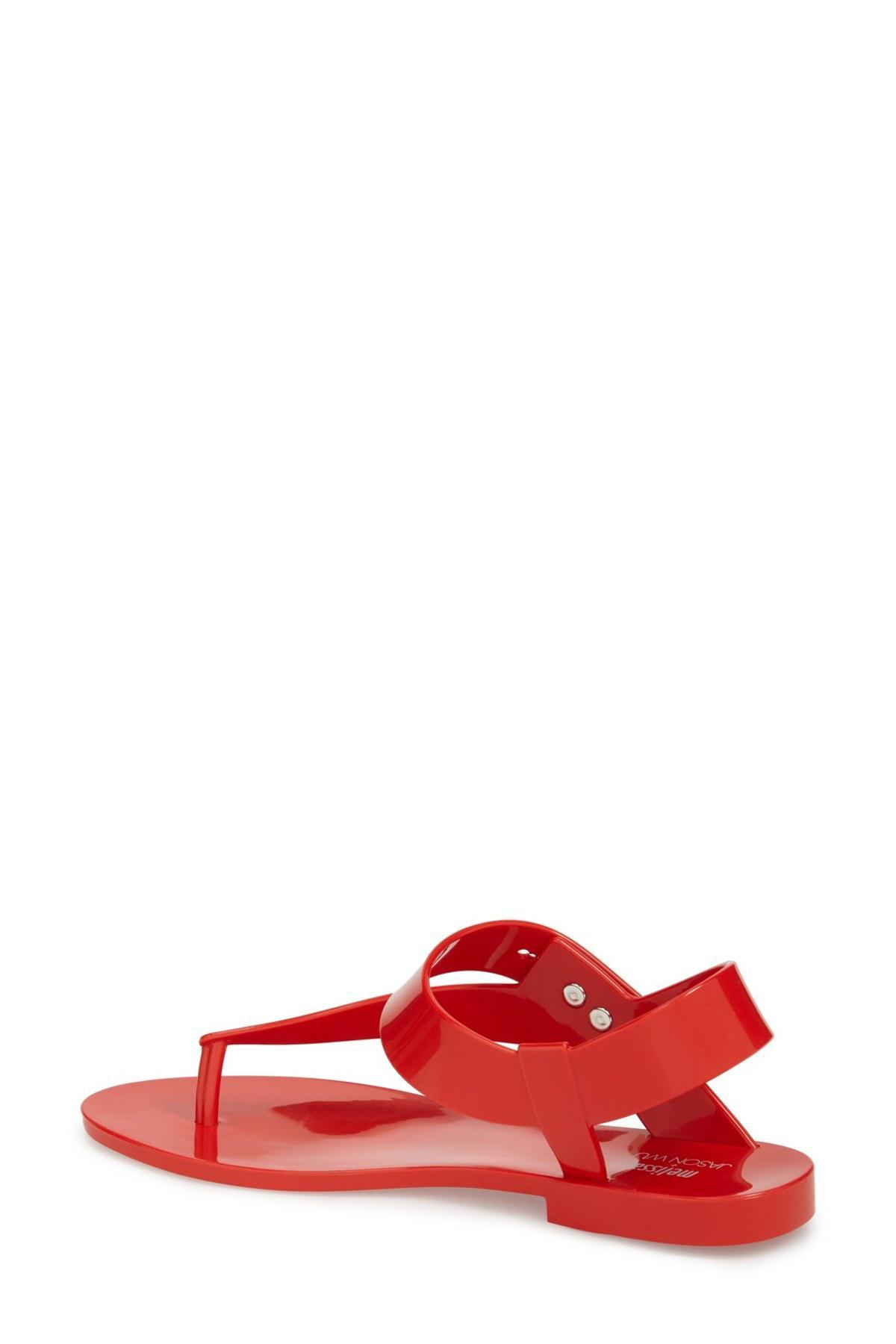 3c0be899d1f2 Lyst - Melissa X Jason Wu Asymmetrical Jelly Sandal in Red