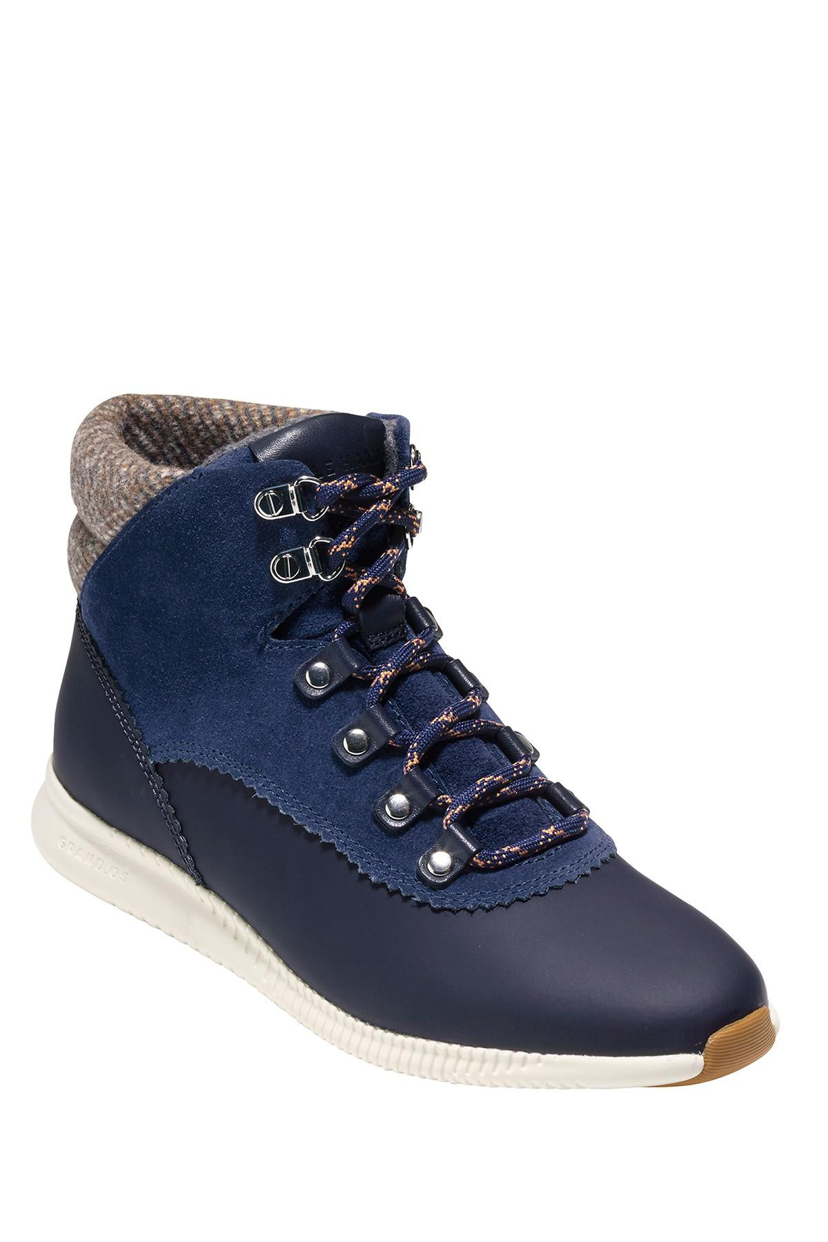 7410417fc3042 Lyst - Cole Haan Zerogrand Waterproof Hiking Boot in Blue
