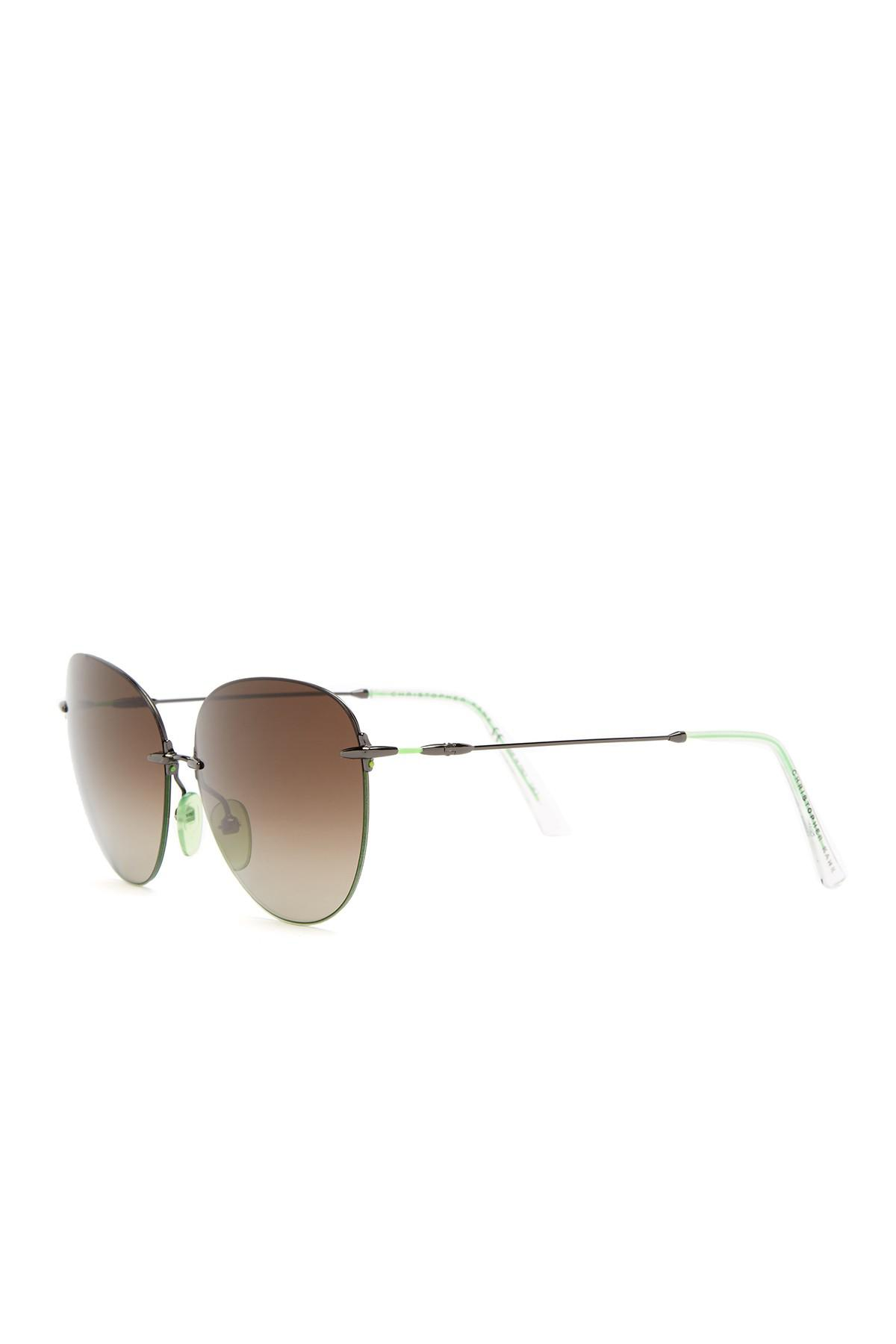 Sunglasses with Gradient Lenses in Gold Metal Christopher Kane XUGyXsnQL