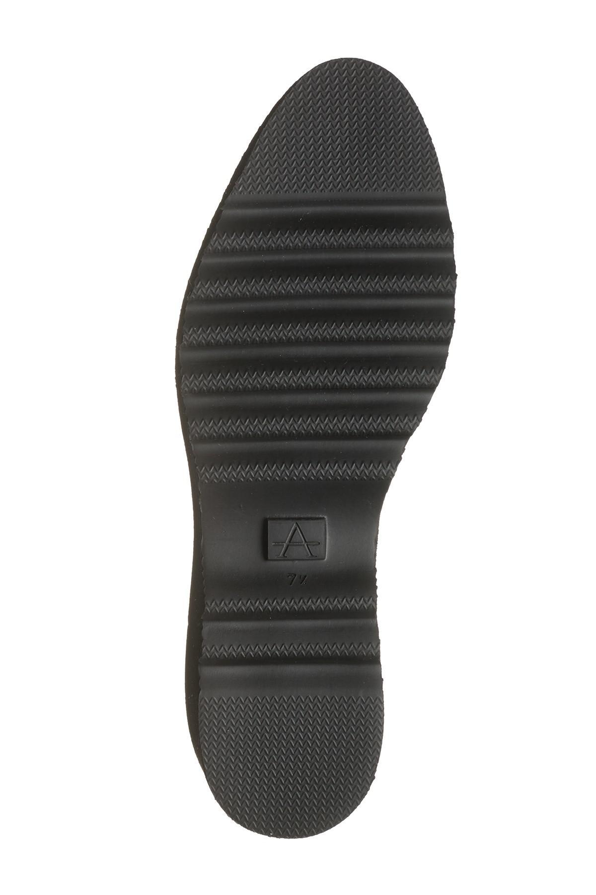 8834374be3b Lyst - Aquatalia Kelsey Mini Embossed Suede Platform Loafer in Black
