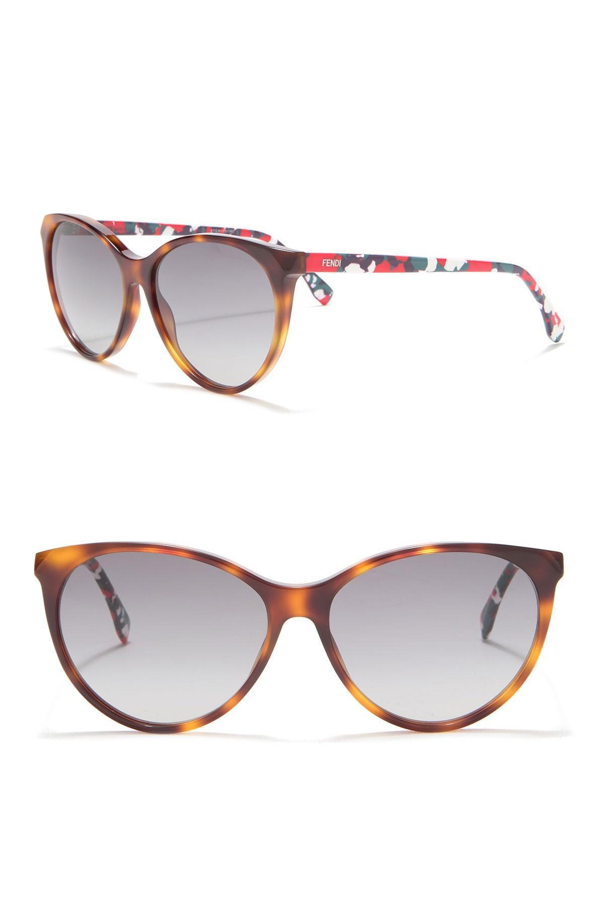 a7493815803 Fendi - Multicolor 57mm Rounded Cat Eye Sunglasses - Lyst. View fullscreen