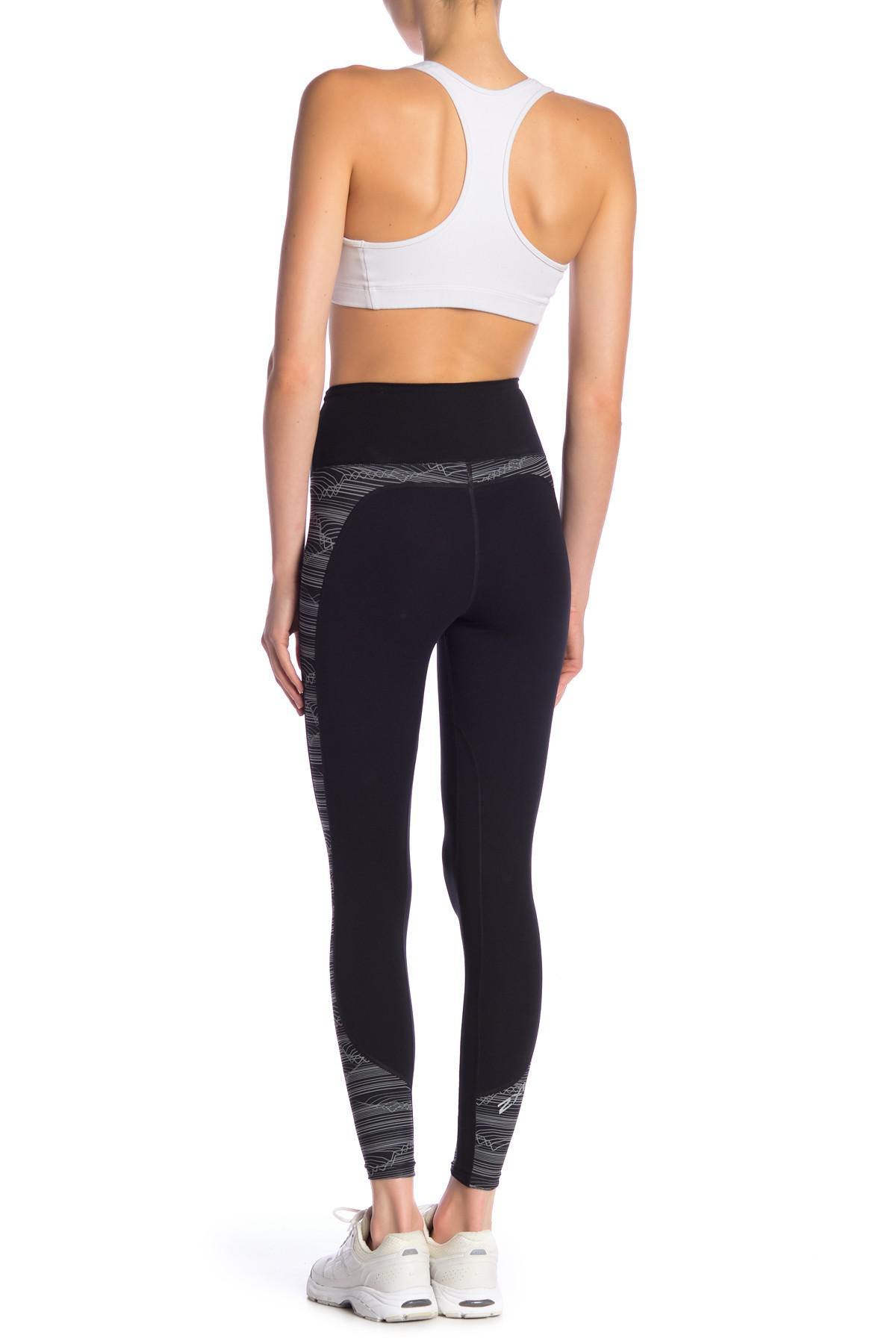 729e13ef Lyst - 2XU High Rise Printed Panel Compression Tights in Black