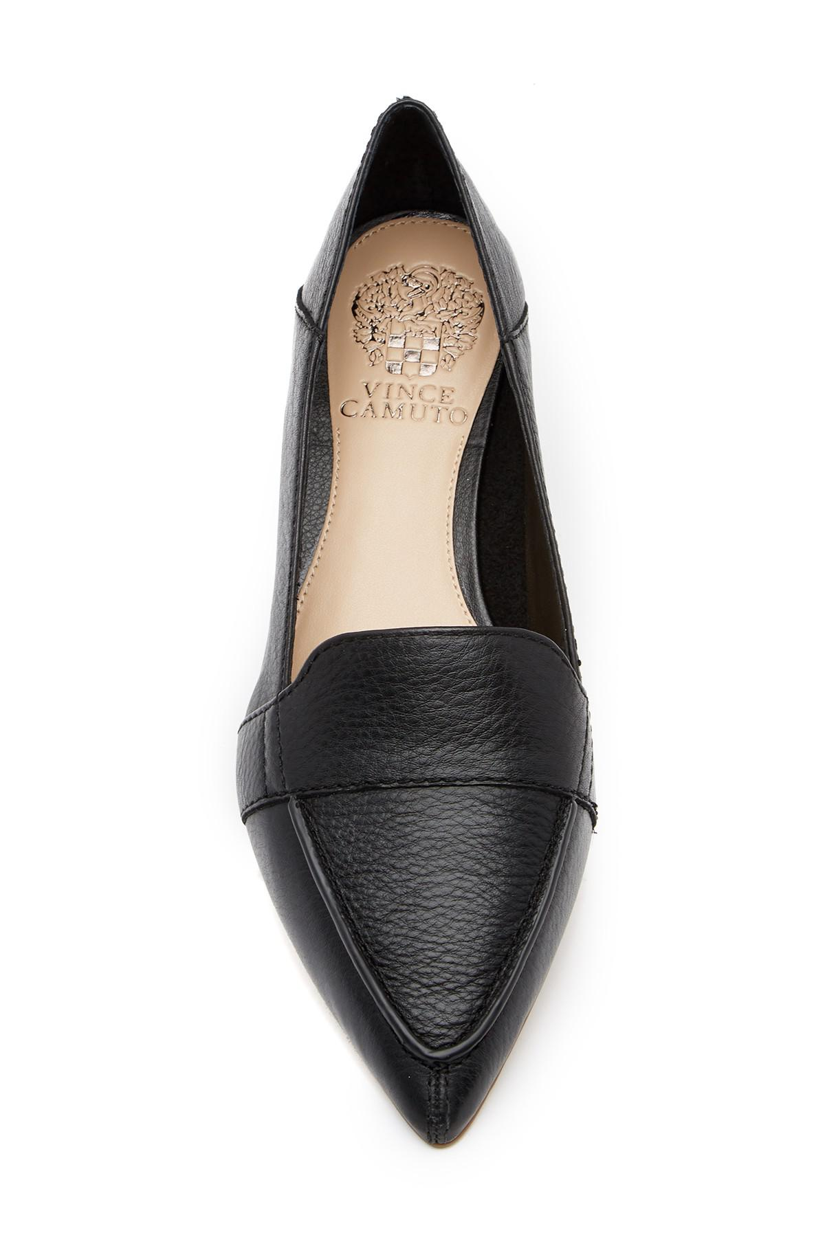 b4b5317dd5e Vince Camuto - Black Maita Pointed Toe Leather Loafer - Lyst. View  fullscreen