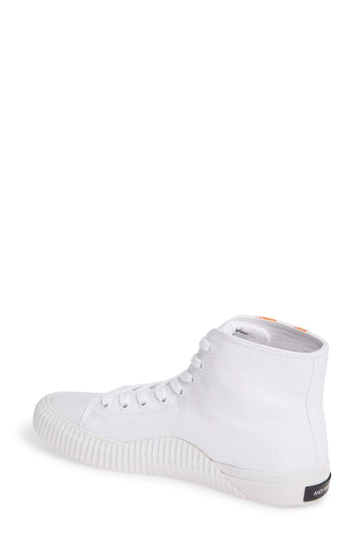 6db1285c5ff Lyst - Calvin Klein Iconica High Top Sneaker (women) in White