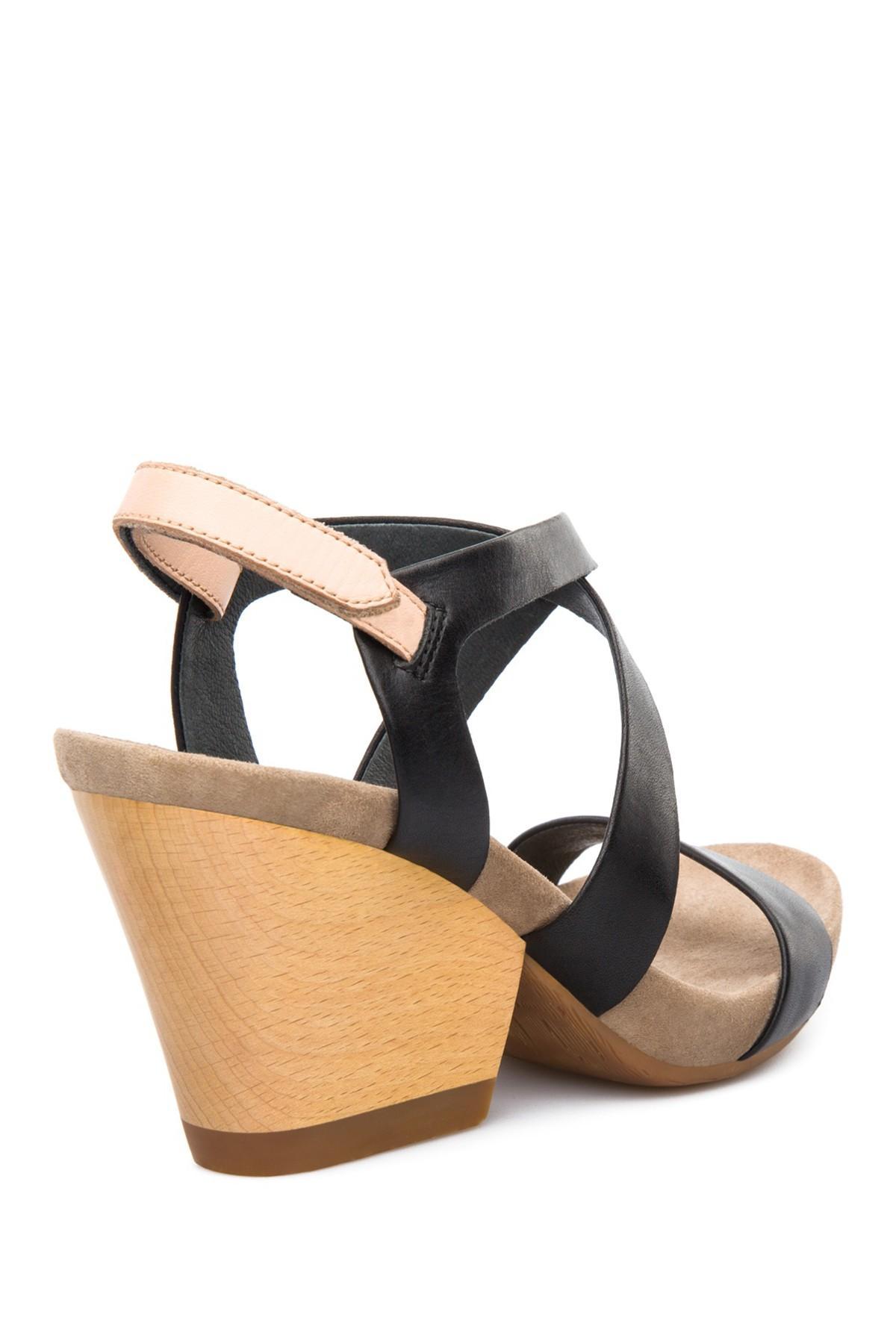ccf0f42f0a8 Camper - Black Servolux Wood Block Heel Sandal - Lyst. View fullscreen