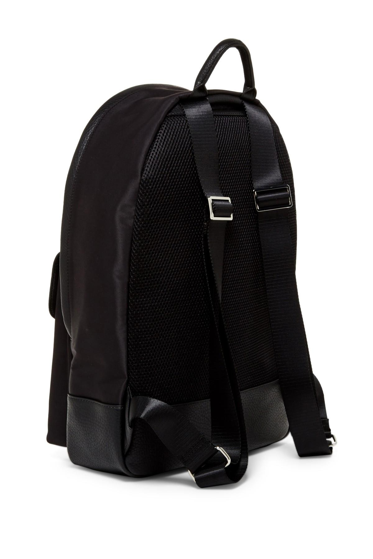 Lyst Cole Haan Leather Contrast Backpack In Black For Men