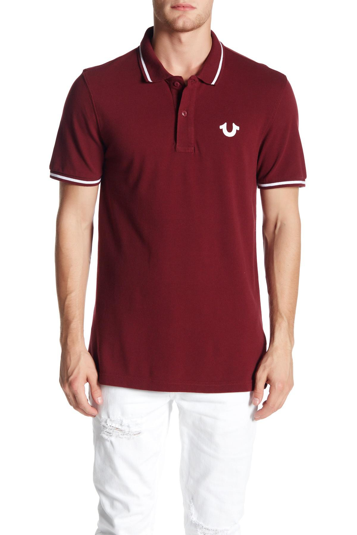 Lyst True Religion Crafted With Pride Polo In Red For Men