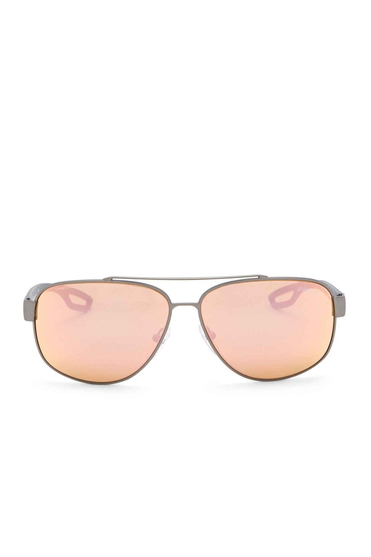 ca8b2cf19e Prada - Multicolor 60mm Navigator Sunglasses for Men - Lyst. View fullscreen