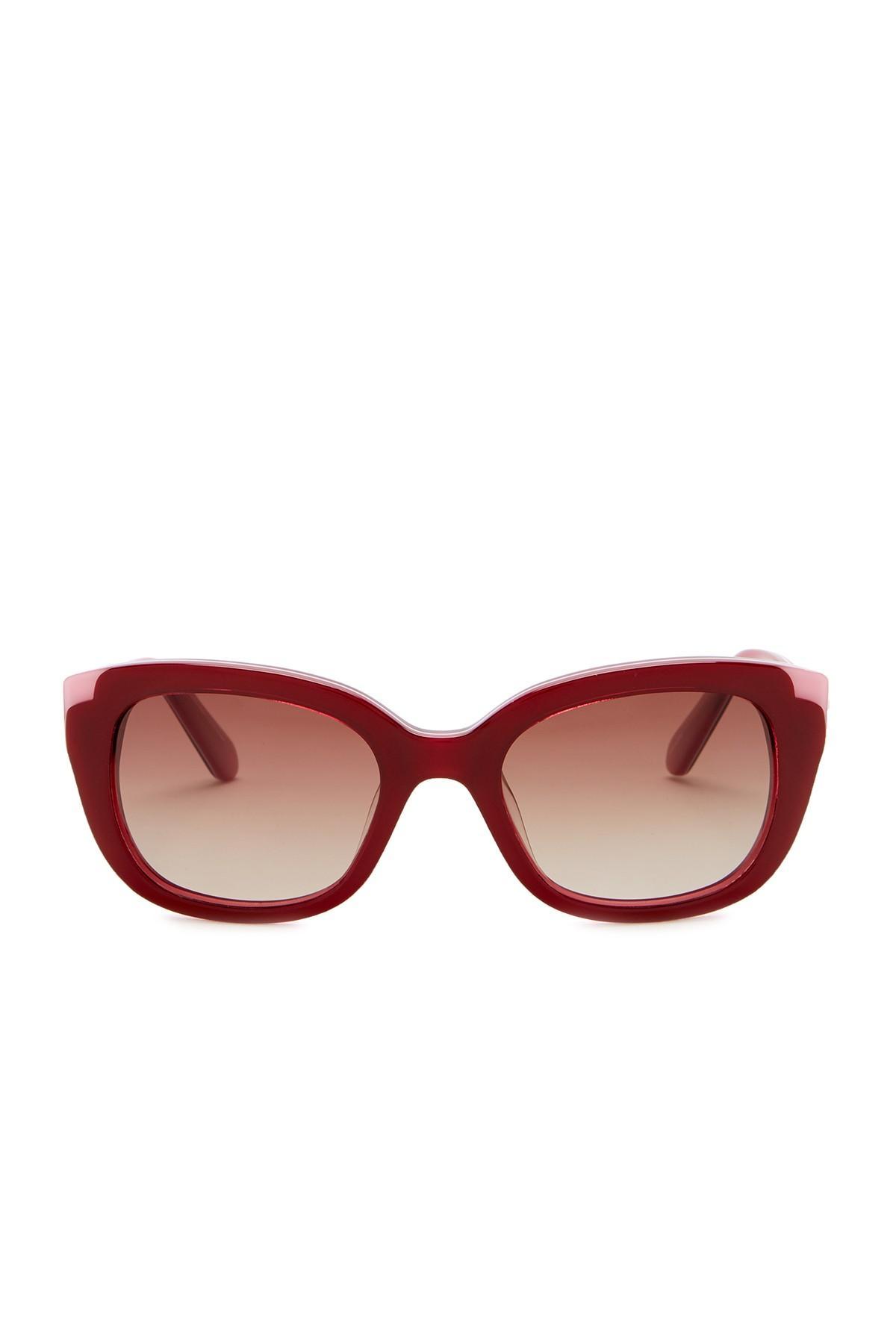ef33d0defb621 Kate Spade. Women s Danella 50mm Square Cat Eye Sunglasses