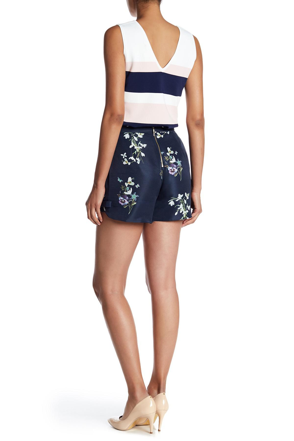 a68407b47 Lyst - Ted Baker Anthia Floral Print Shorts in Blue