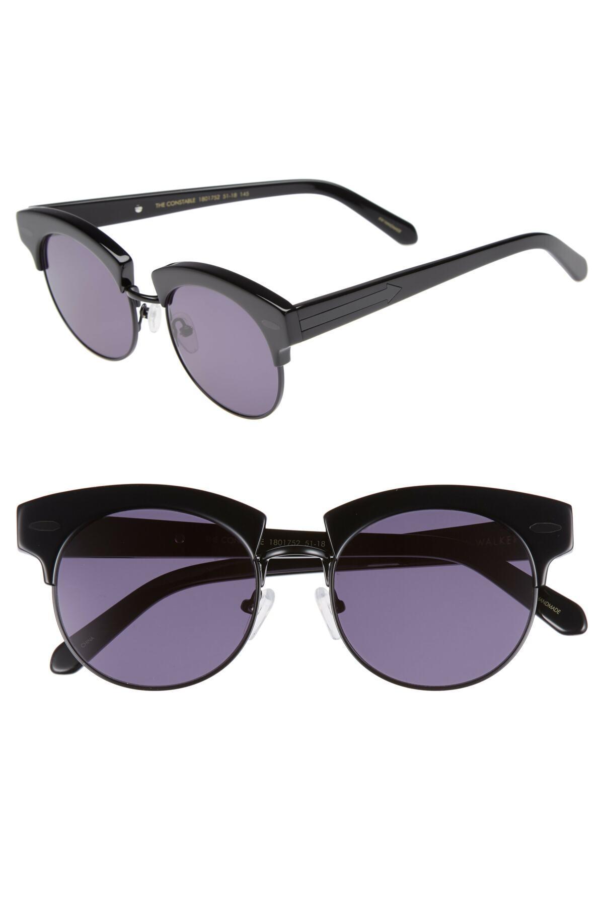 4e2c3534217c Lyst - Karen Walker The Constable 51mm Sunglasses in Black