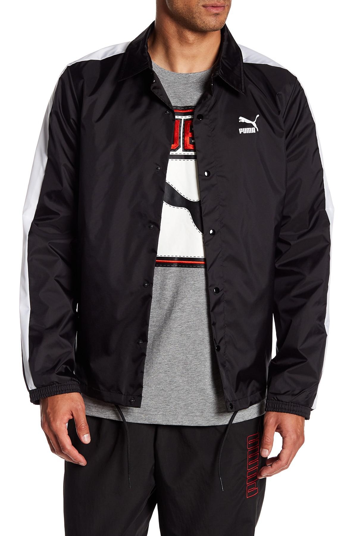 0771525c87a9 Lyst - Puma Archive Coach Jacket in Black for Men