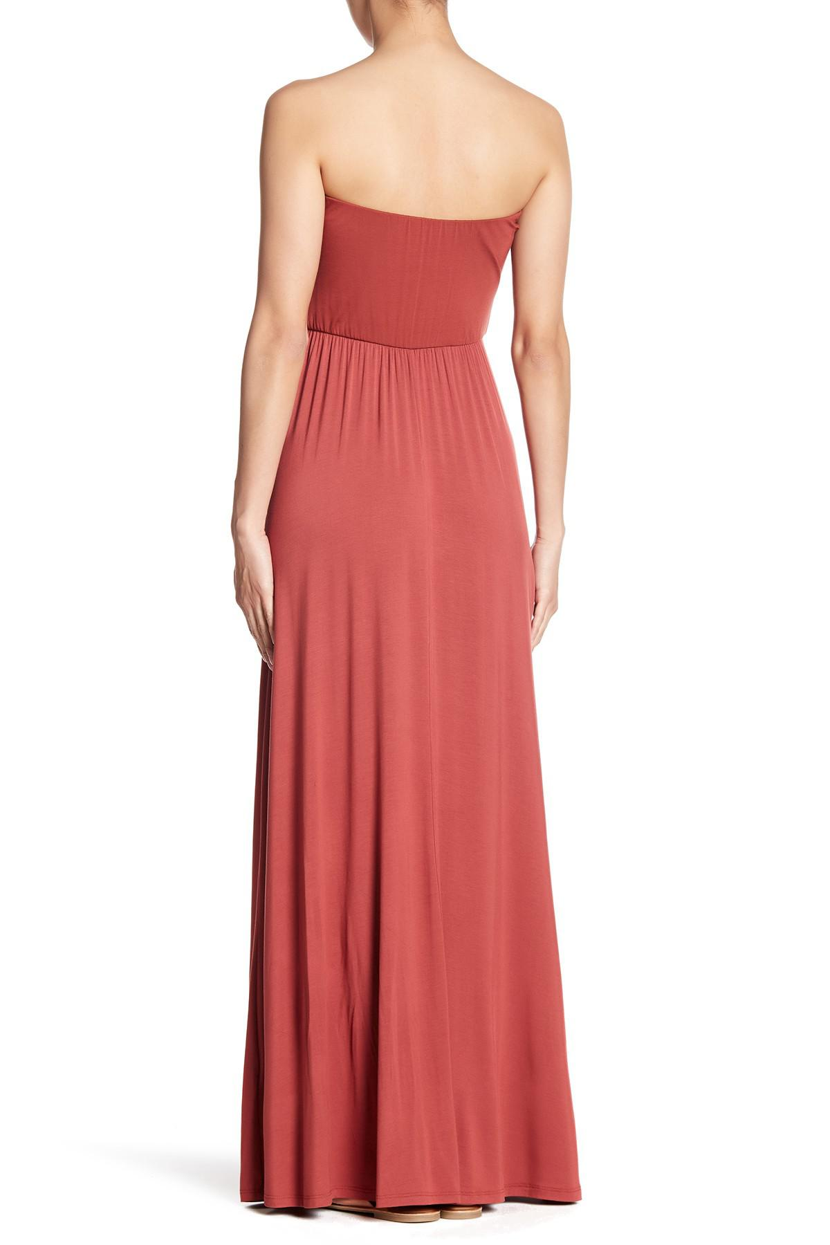 Lyst - West Kei Strapless Maxi Dress in Red