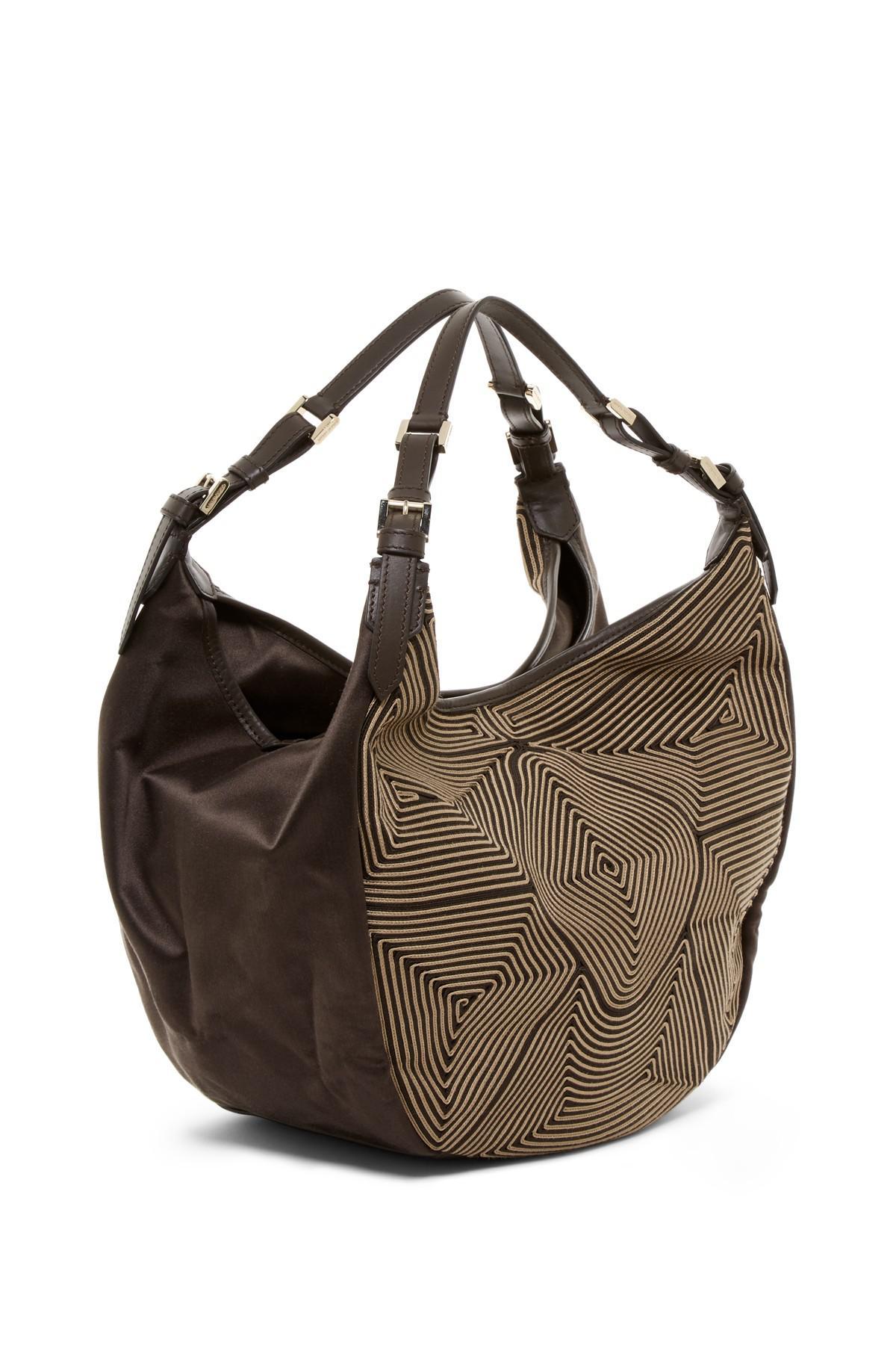 ad9fe7c8347 Lyst - Emporio Armani Geo Woven Shoulder Bag in Brown