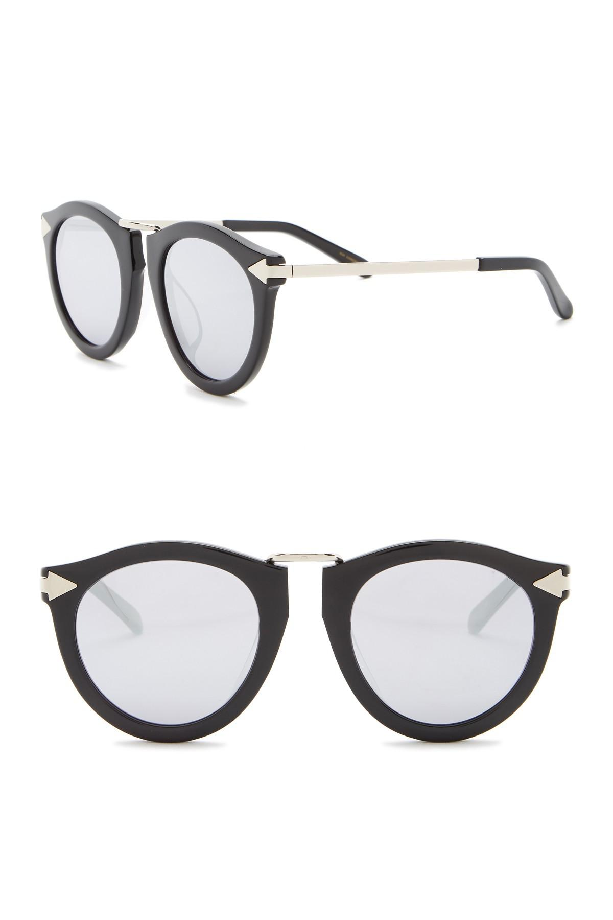 b67d7f0fddea Lyst - Karen Walker Harvest Superstars 58mm Round Sunglasses in Metallic