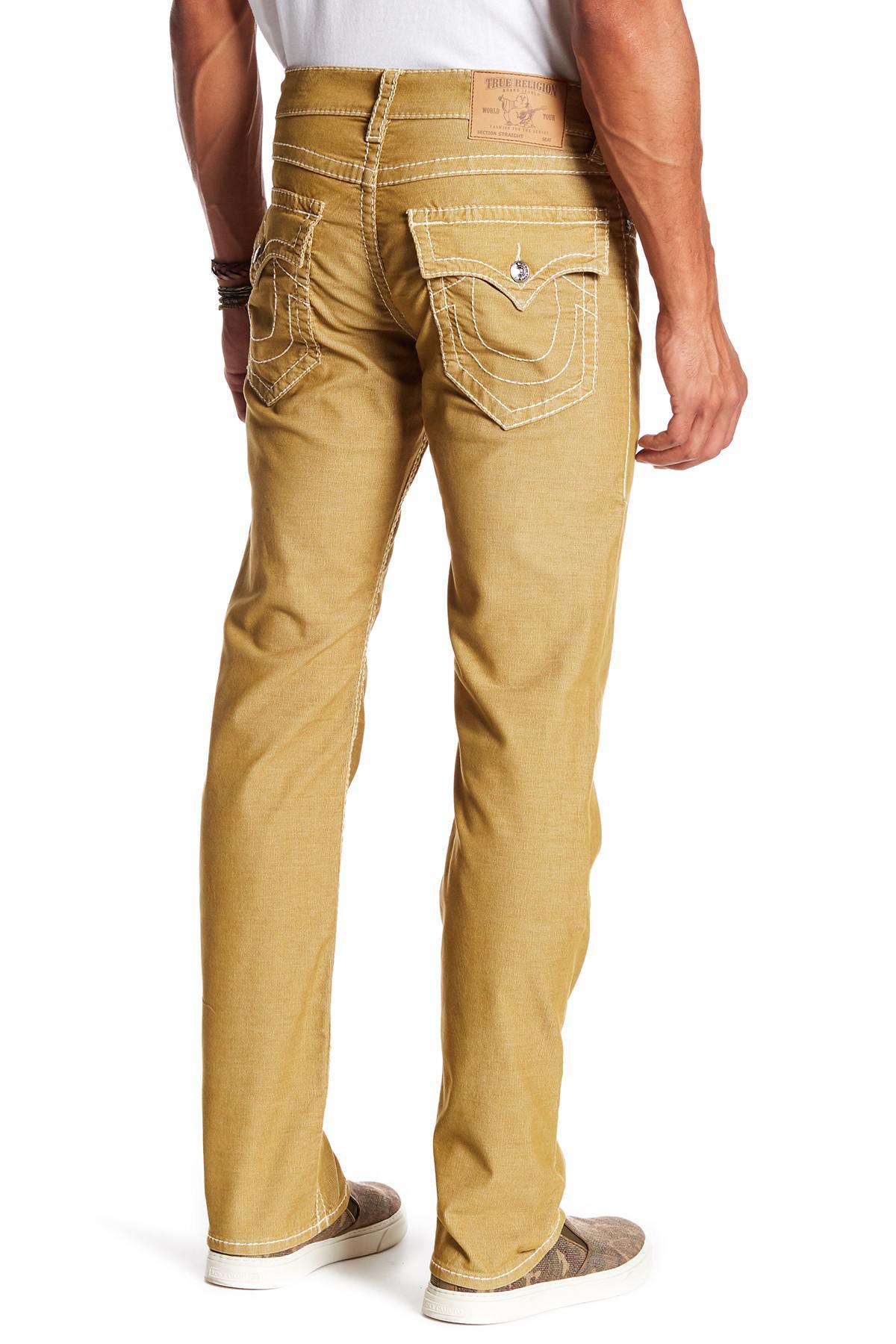 5345539d3 Lyst - True Religion Straight Leg Flap Pocket Corduroy Pants in ...