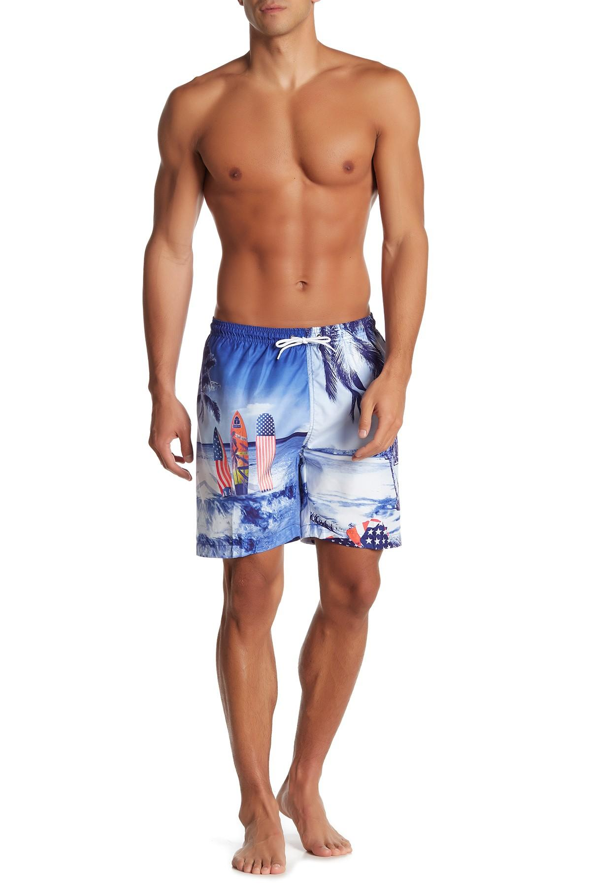 b734cb39a1 Lyst - TRUNKS SURF AND SWIM CO Printed Tropical Swim Shorts in Blue ...