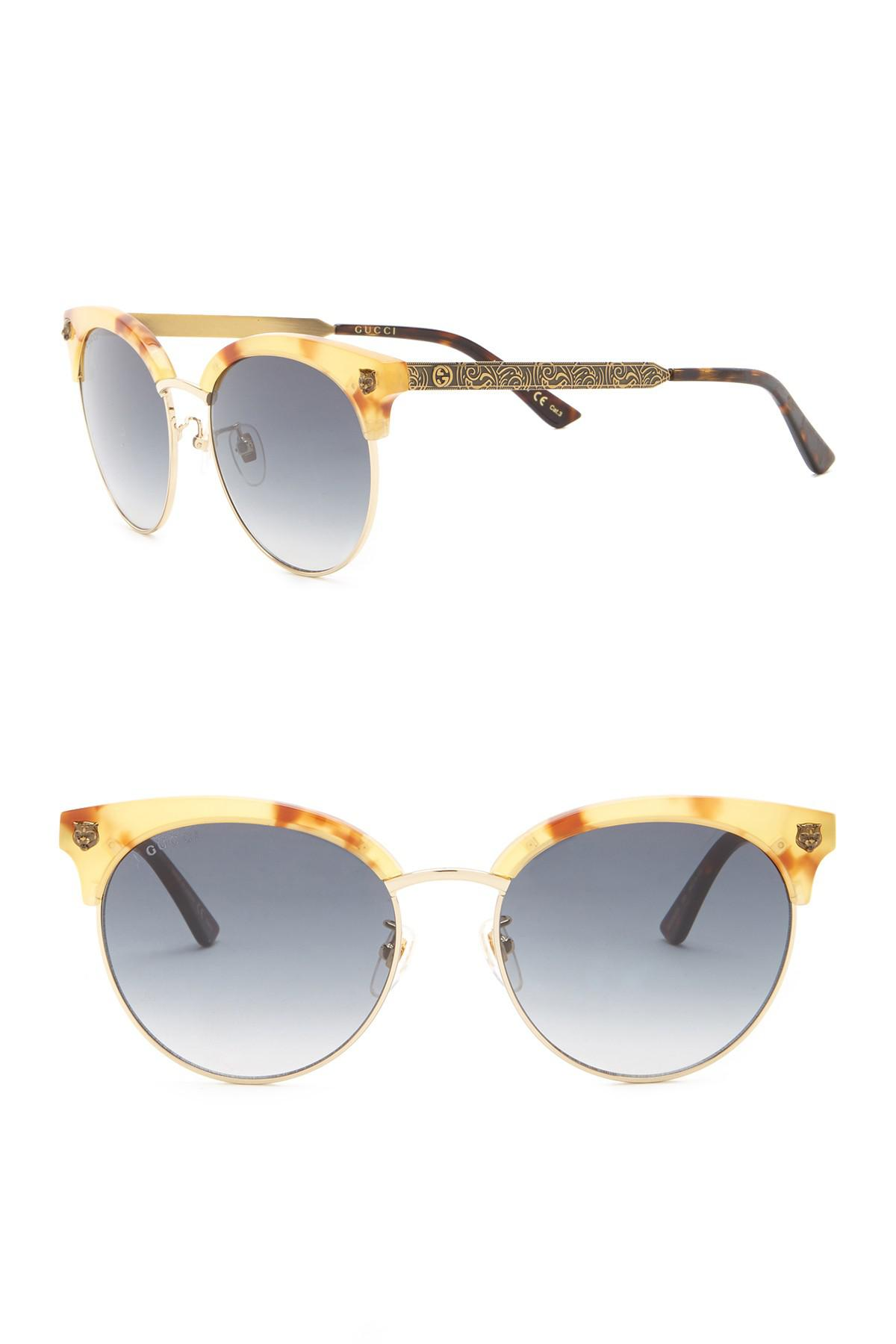 05f79a0e1be Lyst - Gucci 56mm Clubmaster in Gray