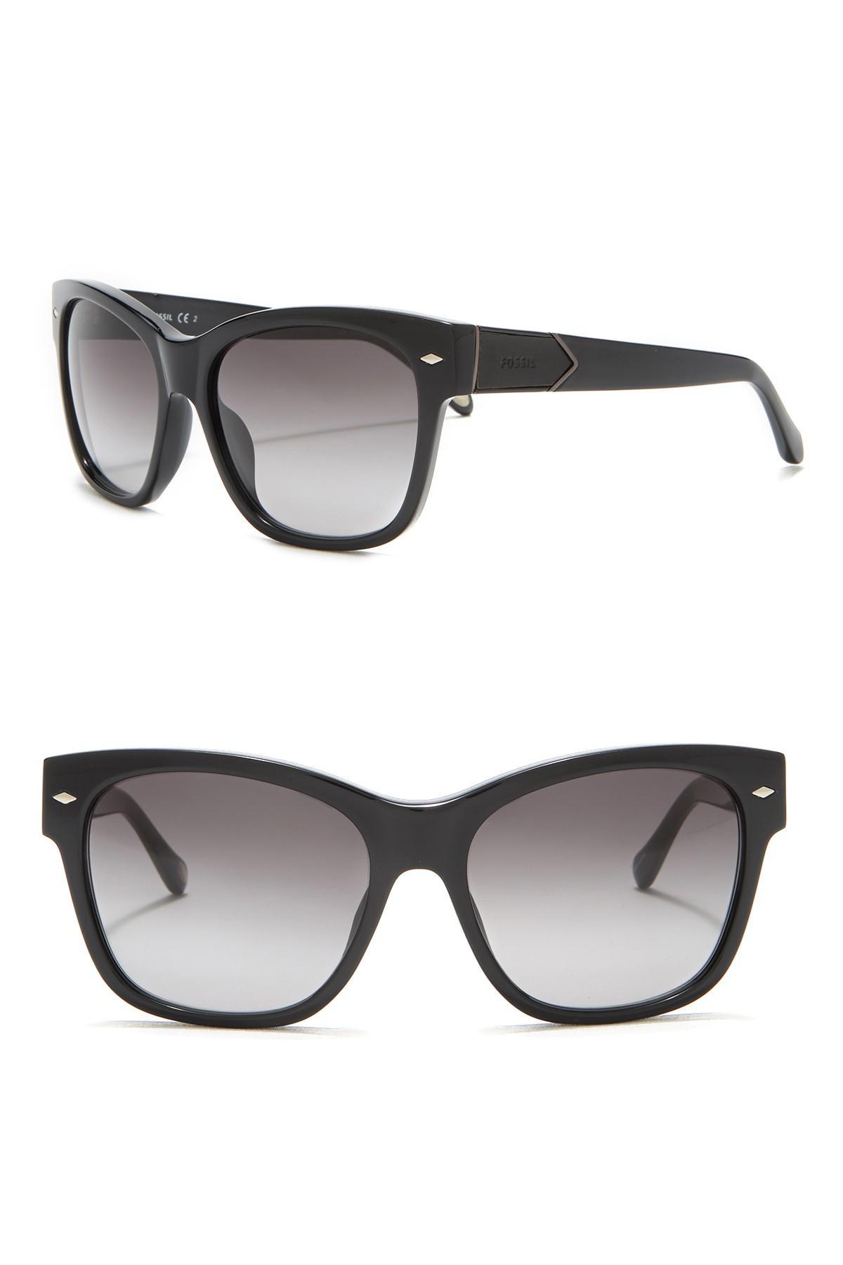 Retro Sunglasses 55mm Lyst Lyst Fossil Fossil Retro 3LRjq54A