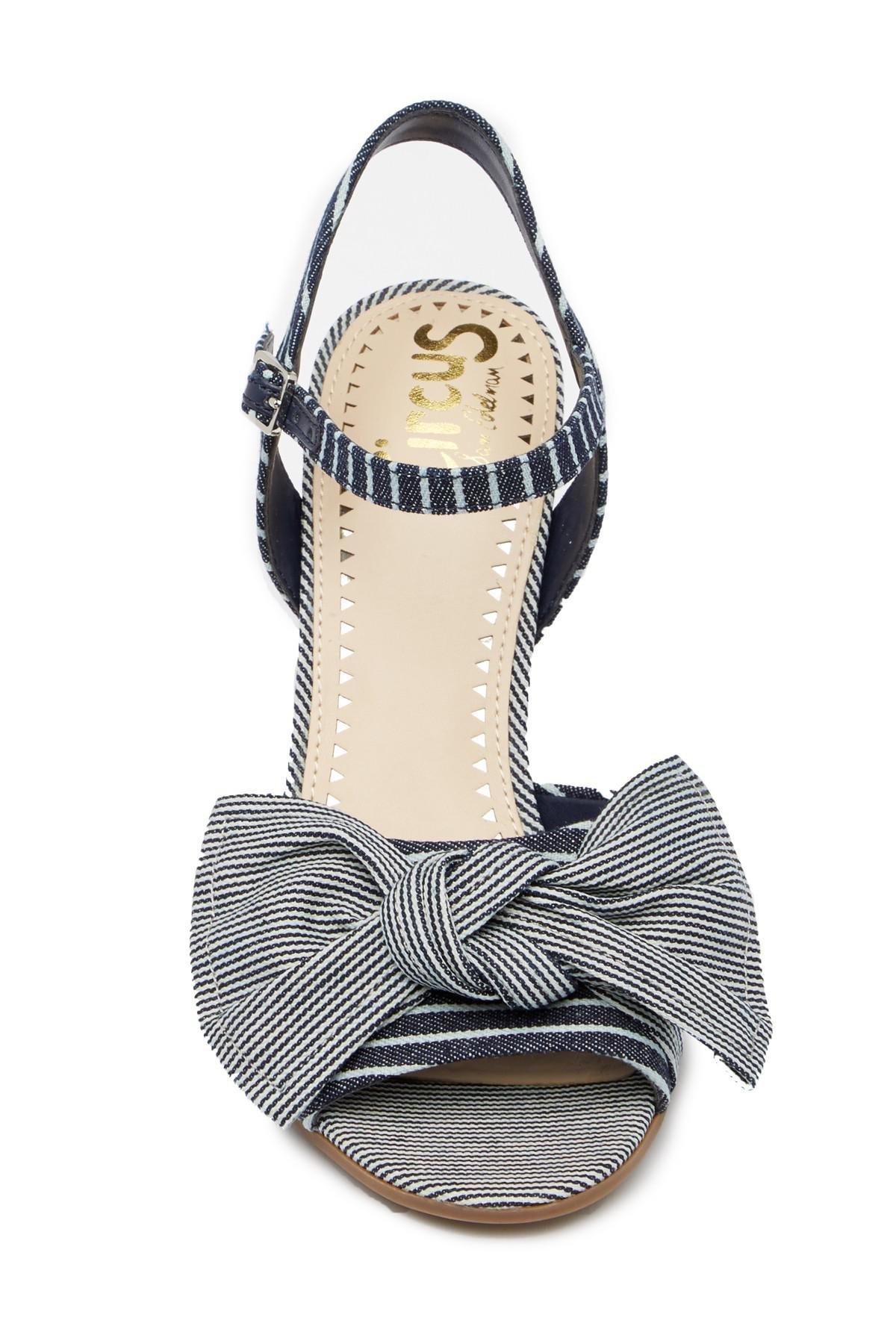 791fefd62 Lyst - Circus by Sam Edelman Eva Block Heel Sandal in Blue