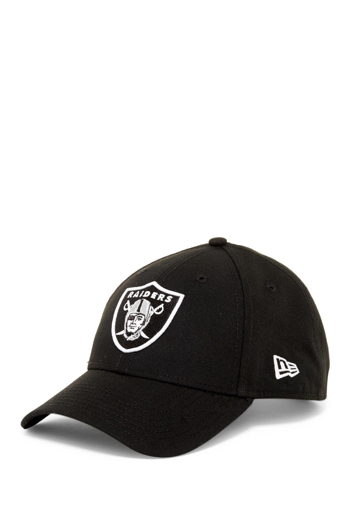 Ktz Nfl Oakland Raiders Black Twill Football Cap In Black