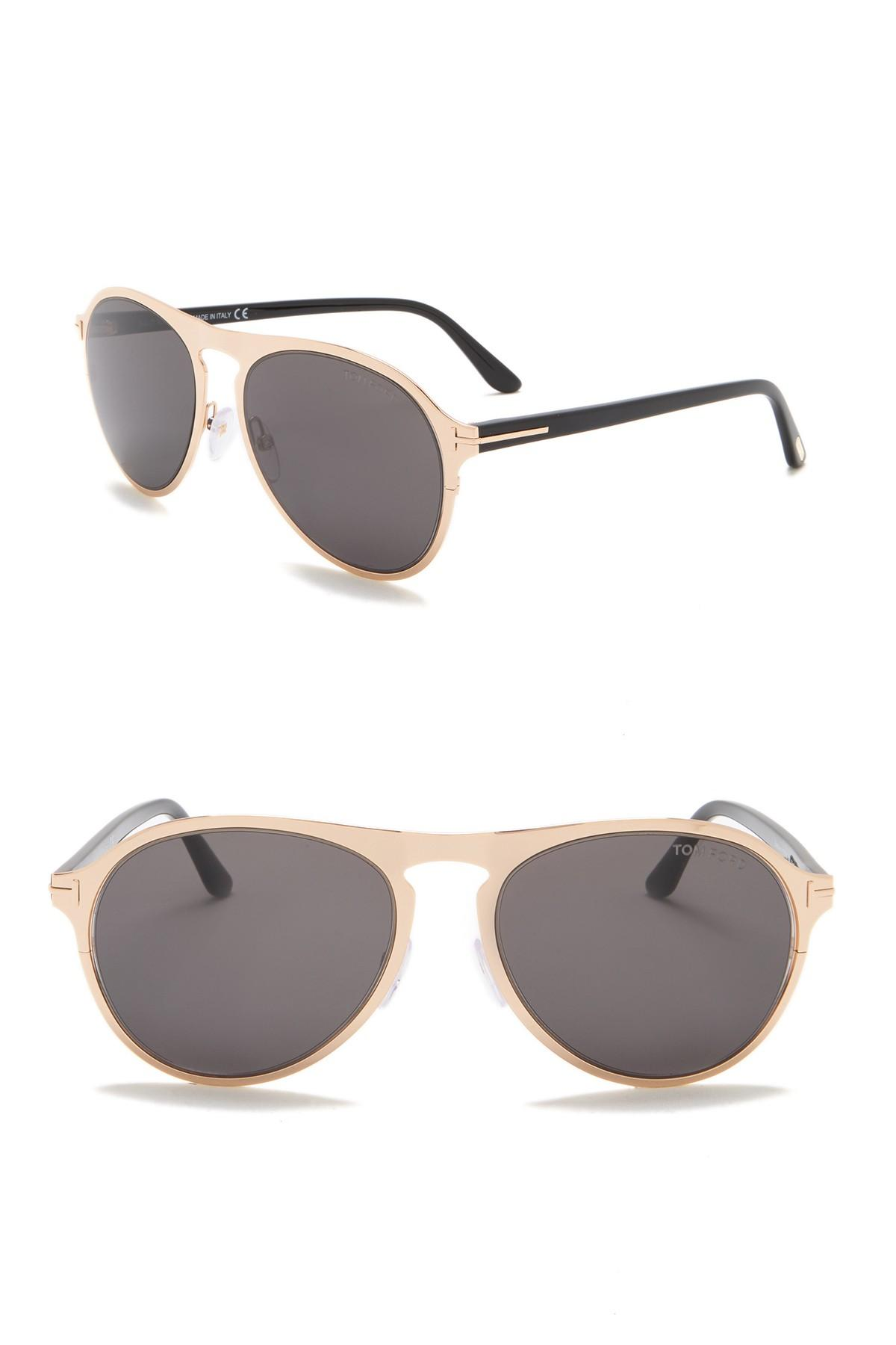 4633834f1c4 Tom Ford - Multicolor Bradburry 56mm Modified Aviator Sunglasses for Men -  Lyst. View fullscreen