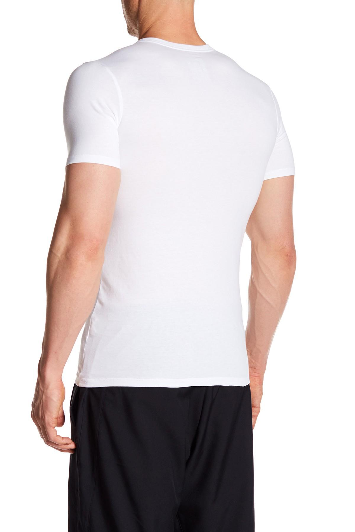 Lyst nike cortez athletic cut tee in white for men for Mens athletic cut shirts