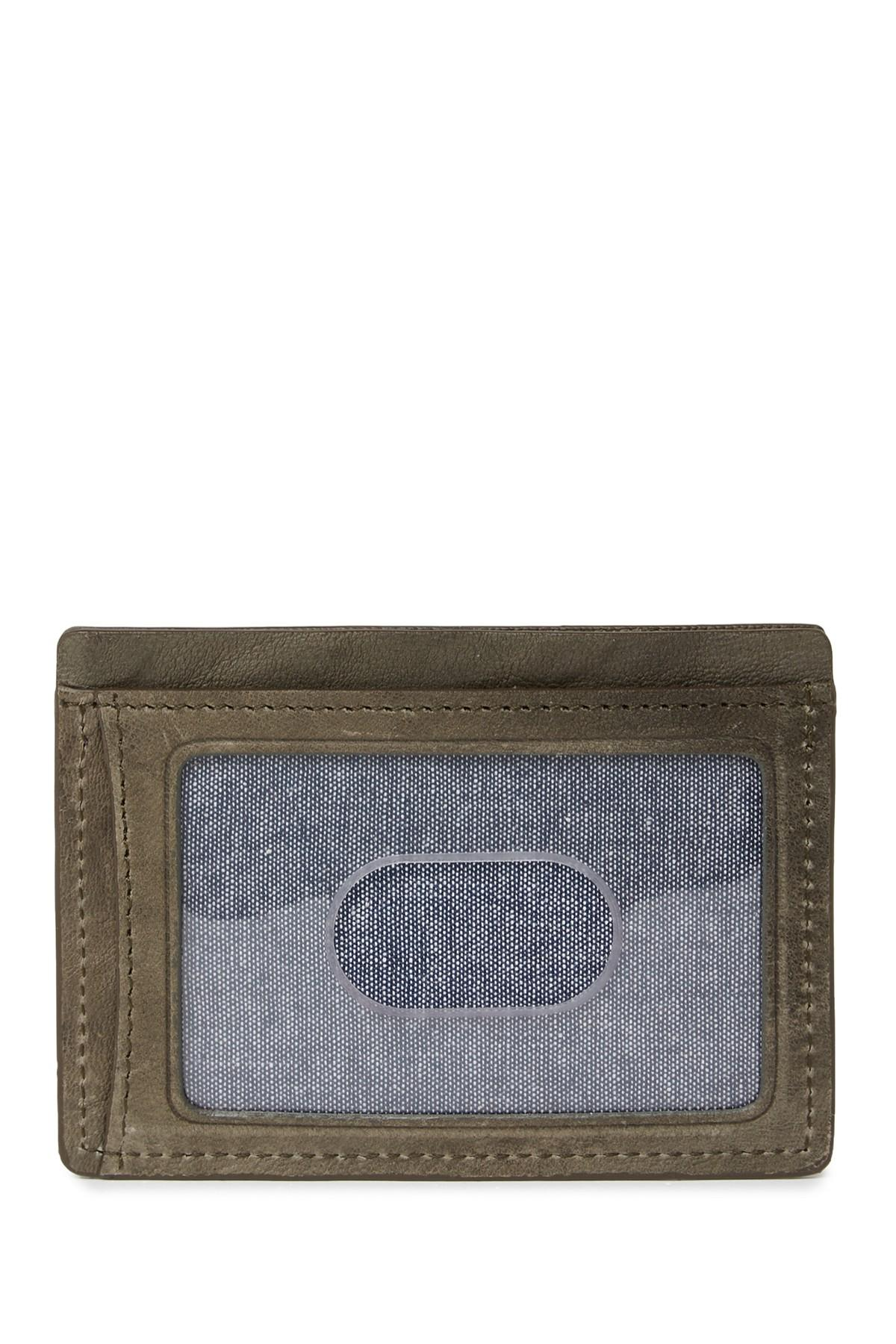 1c841a8a15dbdf ... Lincoln Leather Card Case for Men - Lyst. View fullscreen