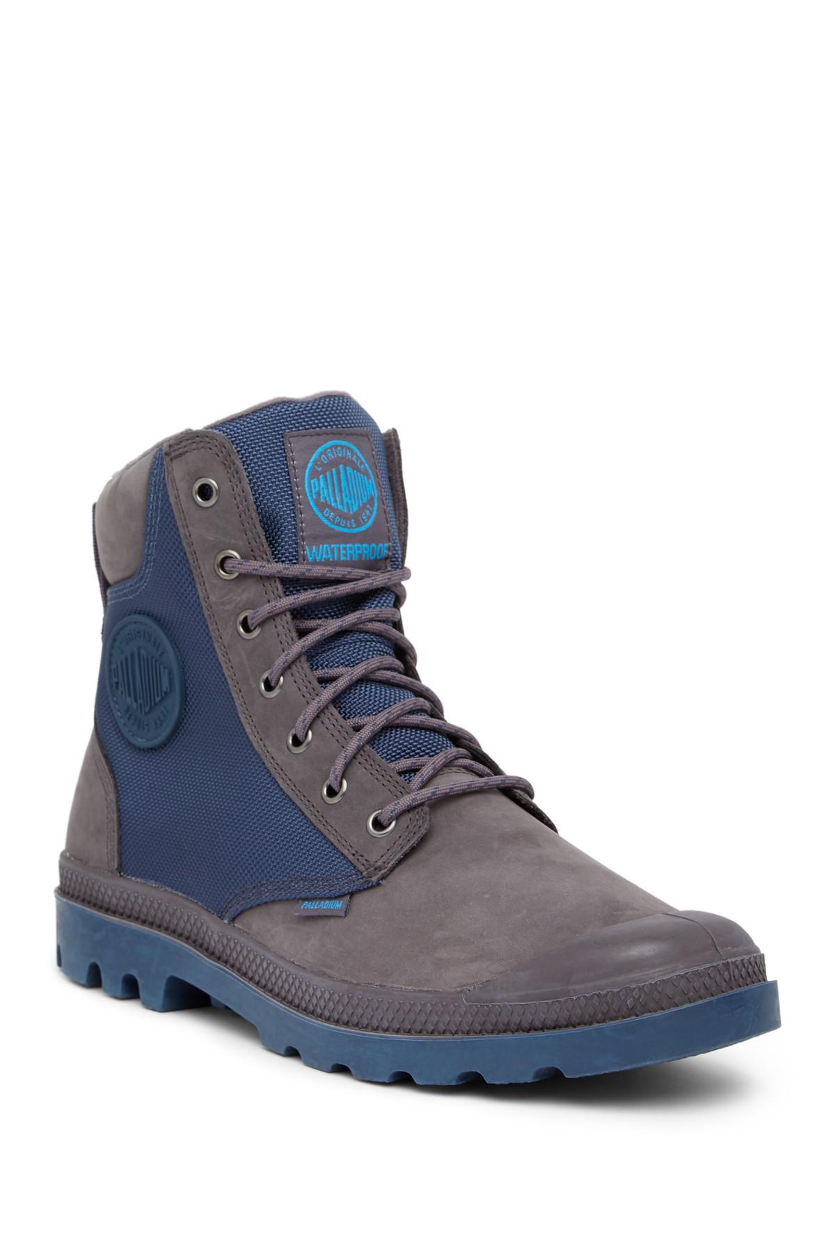 Lyst - Palladium Pampa Sport Cuff Waterproof Boot in Blue for Men 6a55e0c0d