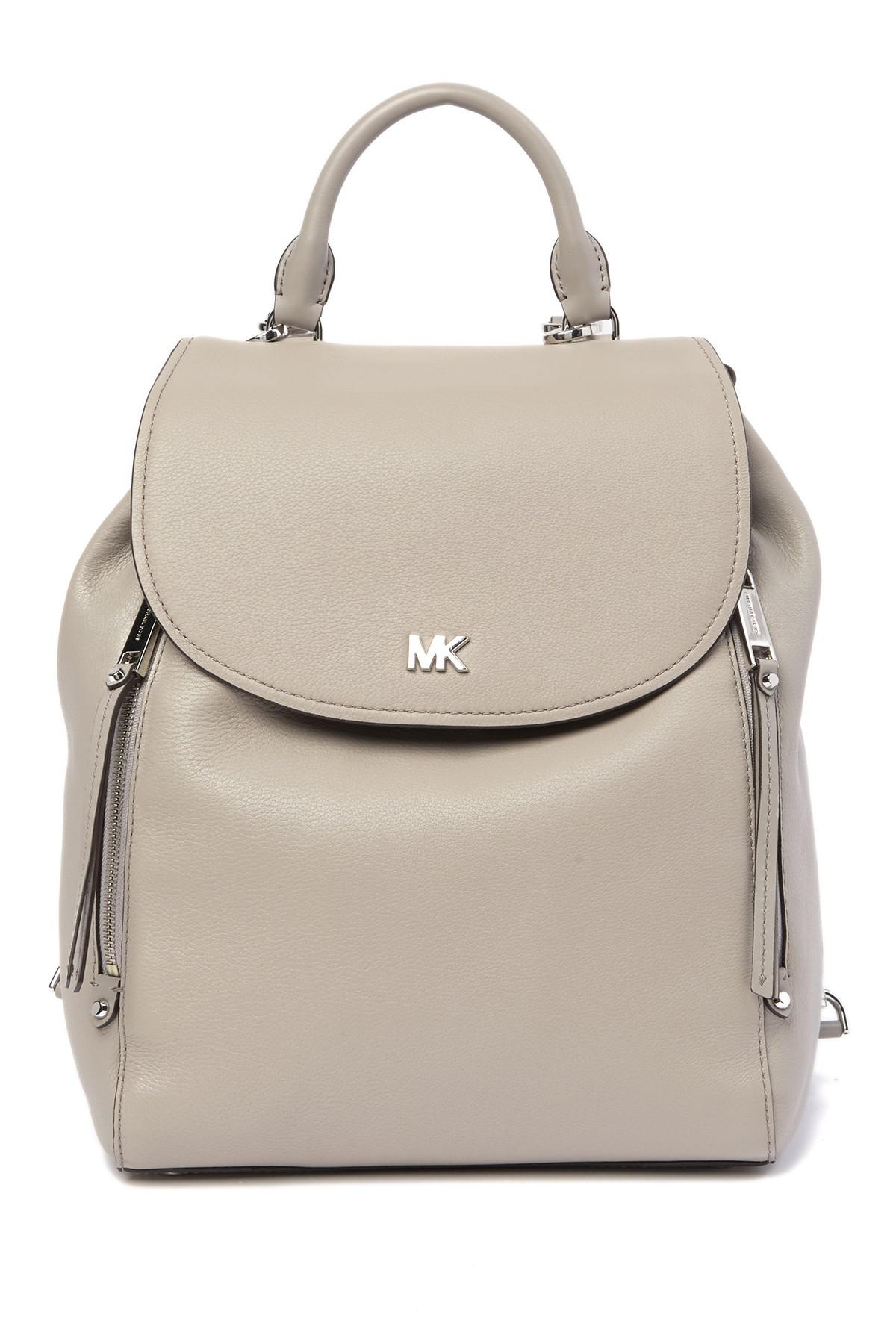 80867e15994505 MICHAEL Michael Kors Evie Medium Pebbled Leather Backpack in Gray - Lyst