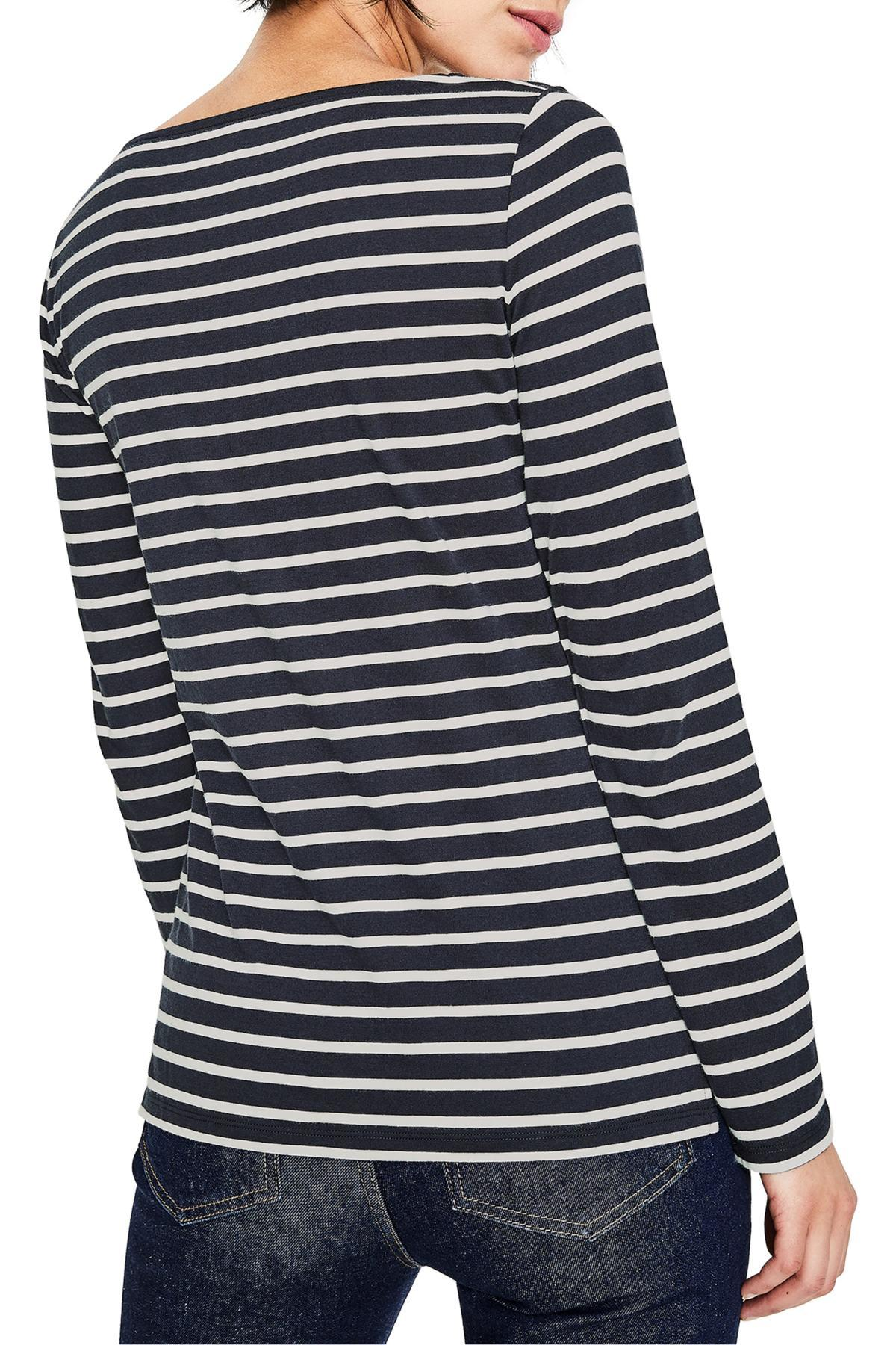 3b735042d6 Boden - Blue The Fun Breton Stripe Top - Lyst. View fullscreen