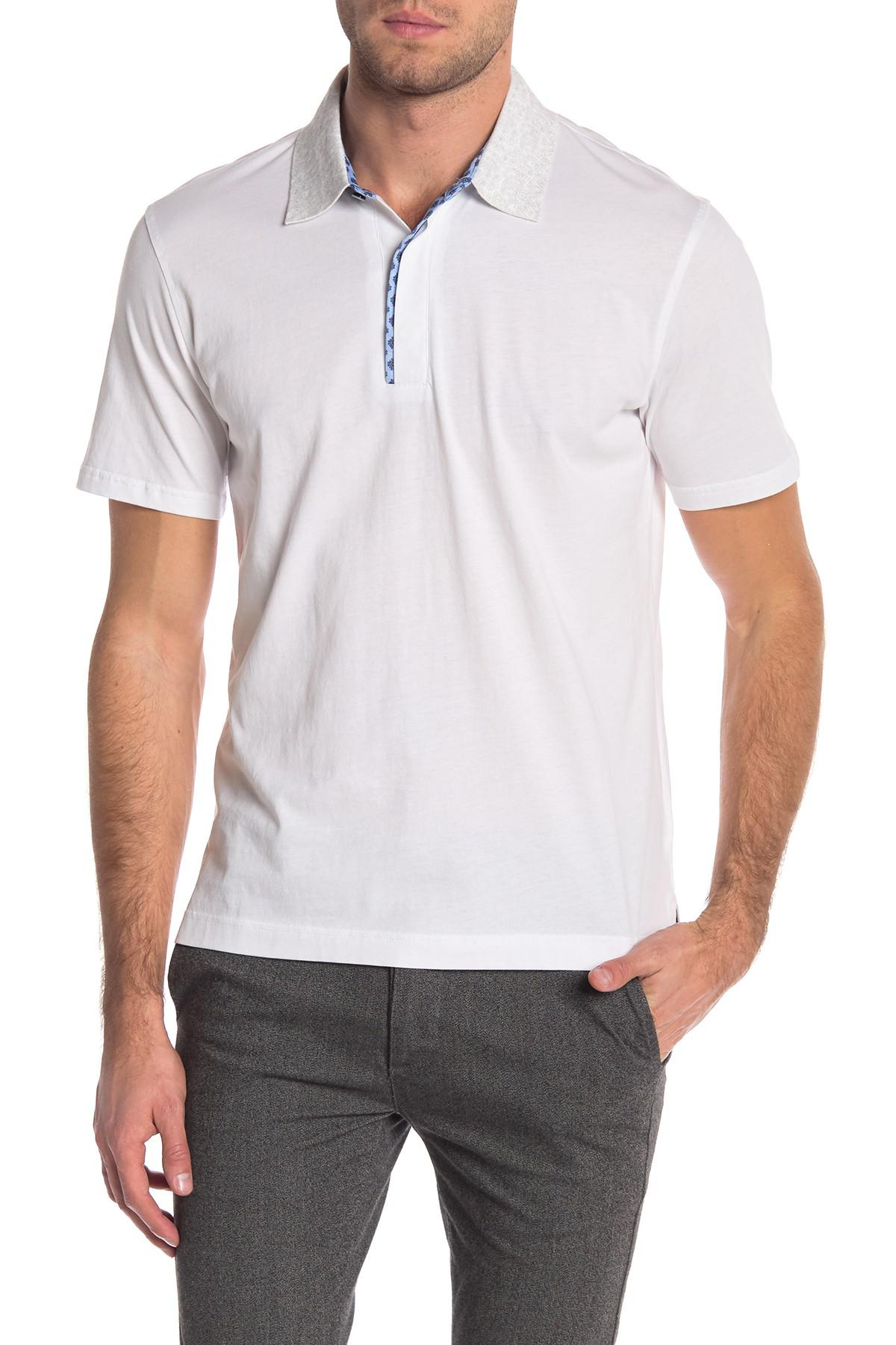 3f8f2d1d Lyst - Robert Graham Diego Short Sleeve Knit Polo in White for Men