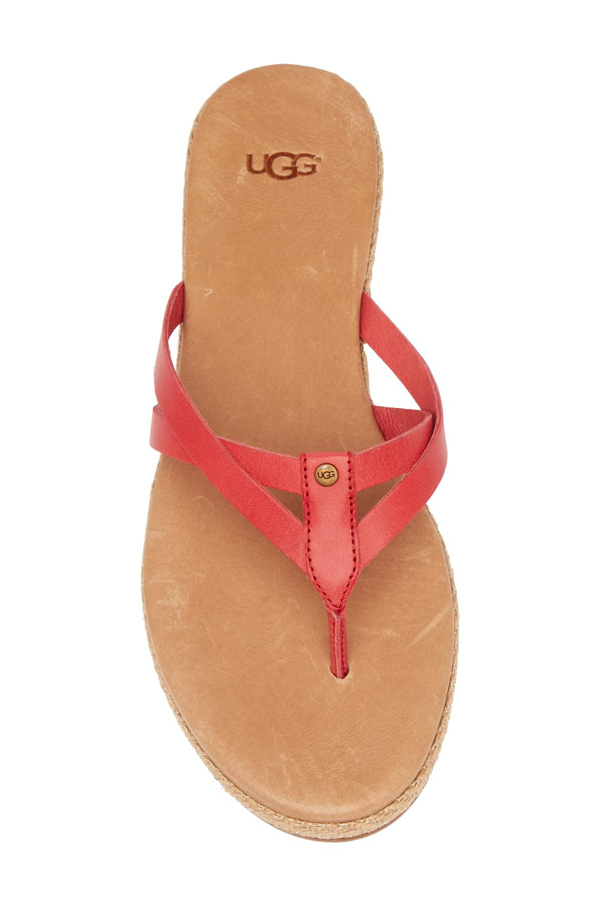 42a7416a8fe Lyst - UGG Annice Strappy Flip Flop in Red