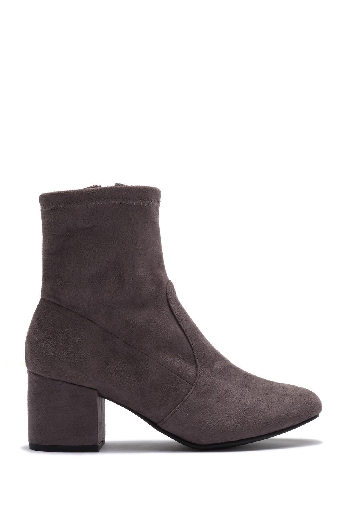 0d9e239eaaa Lyst - Steve Madden Immense Block Heel Boot in Gray