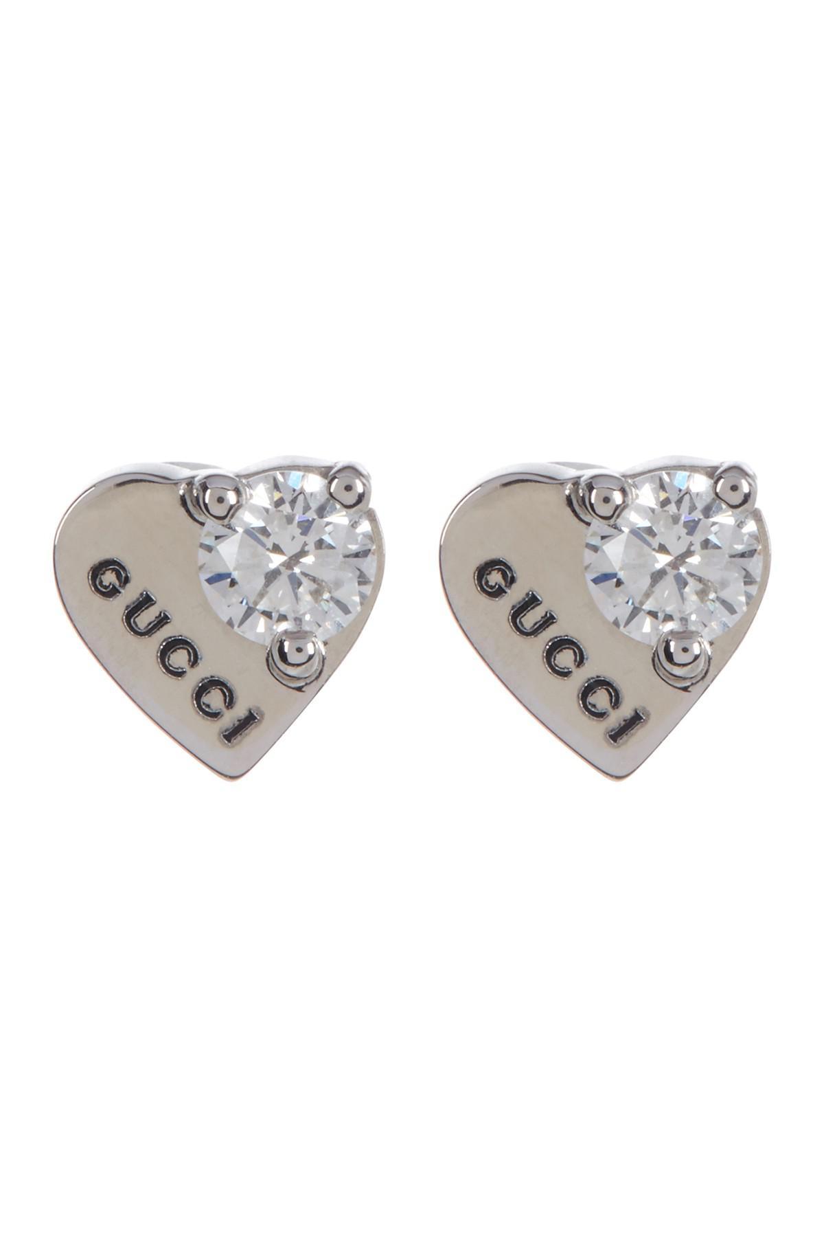 White Gold Diamond Stud Earrings Uk