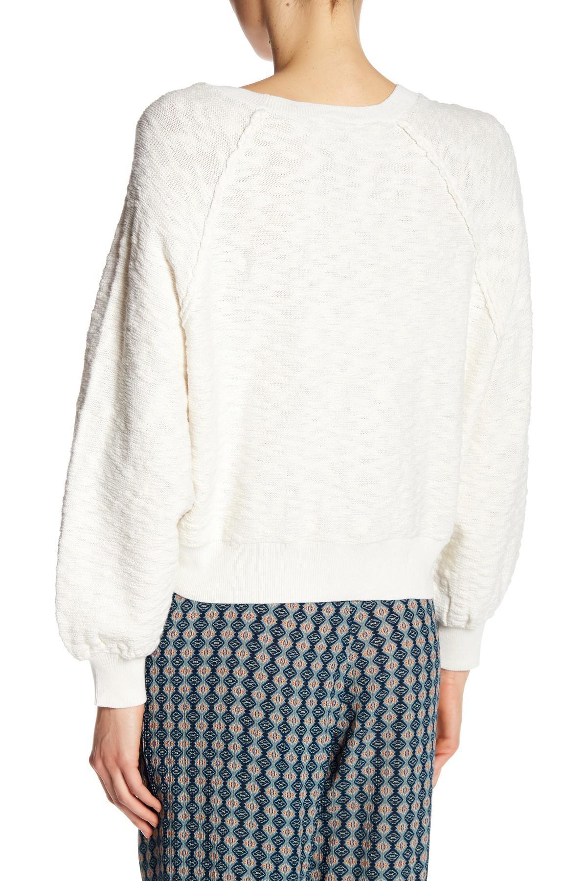 2fcad35e93a Lyst - Dress Forum Raglan Sleeve Sweater in White