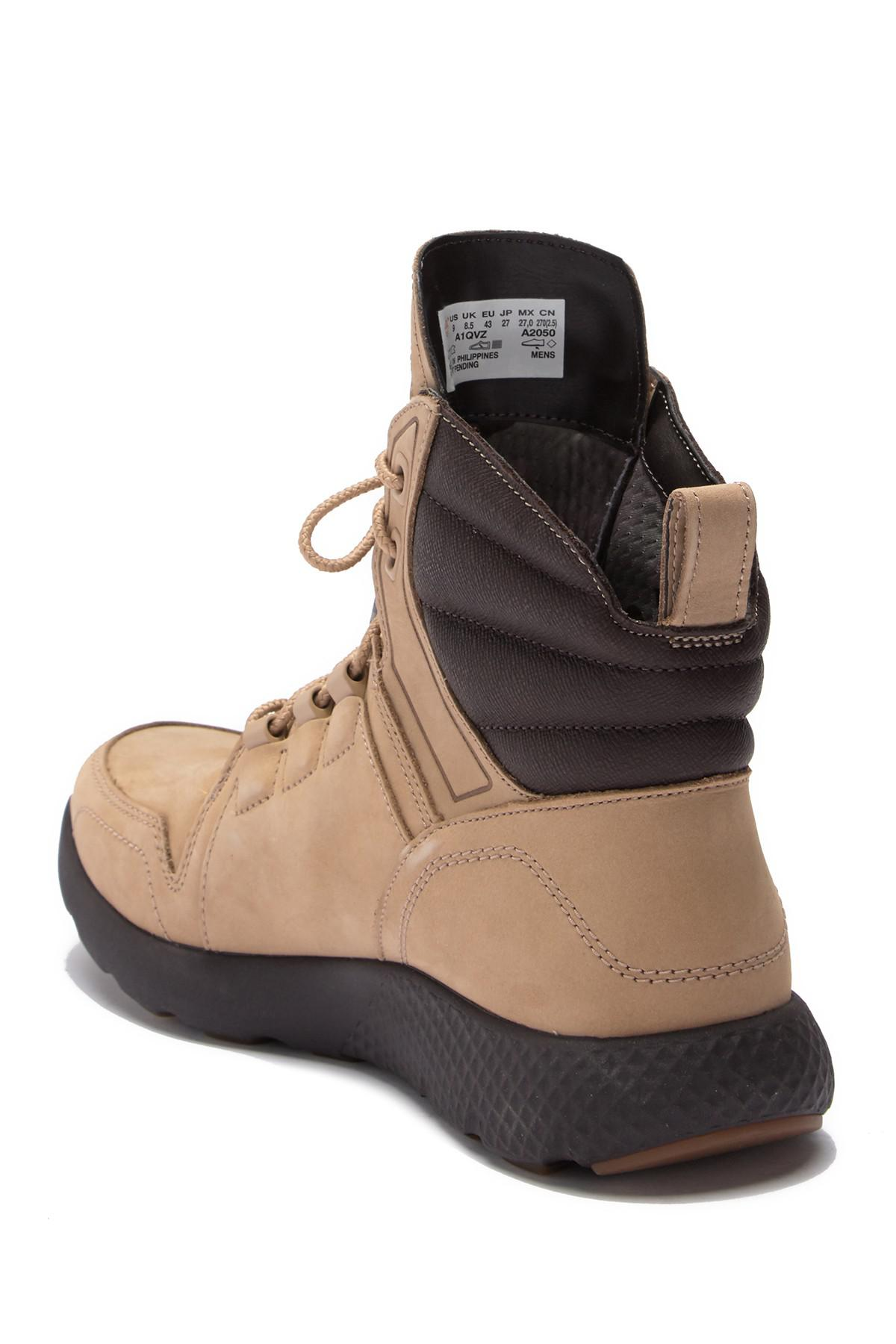 d58c773a Timberland Flyroam Leather Hi-top Sneaker Boot in Brown for Men - Lyst