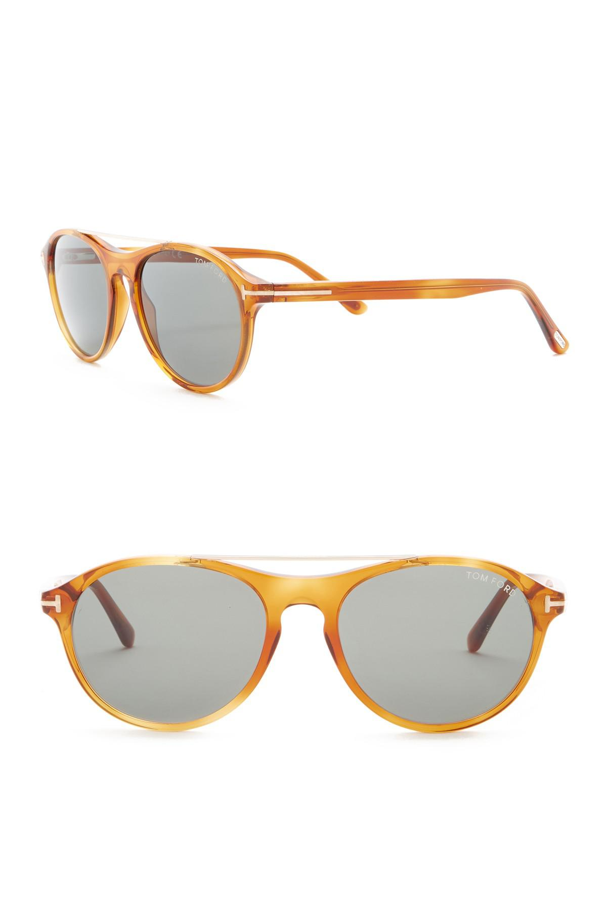 5db5266ecaf Lyst - Tom Ford Cameron 53mm Round Sunglasses for Men