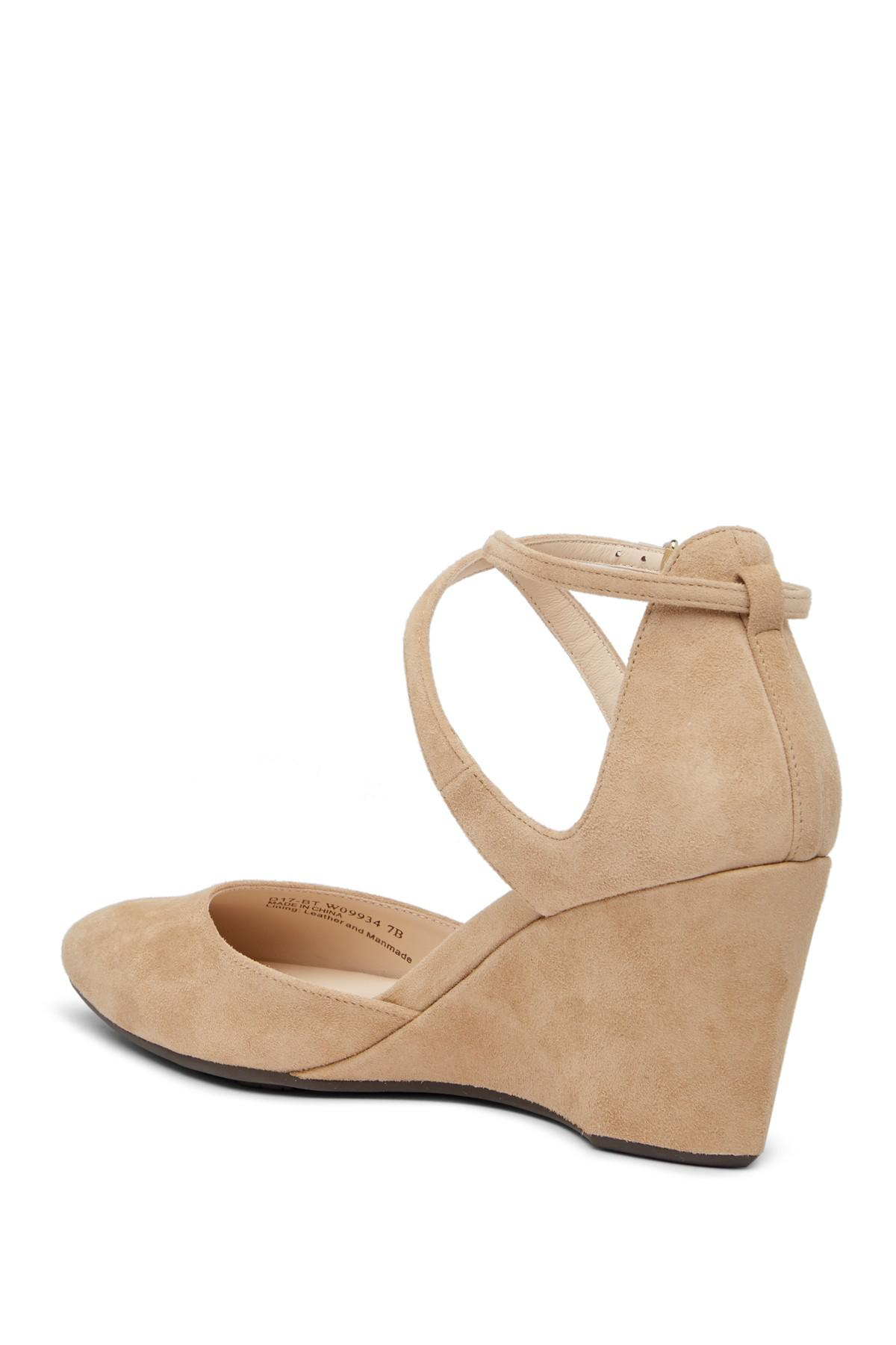 abcb060ca173 Cole Haan Lacey Ankle Strap Wedge Pump (women) in Natural - Lyst
