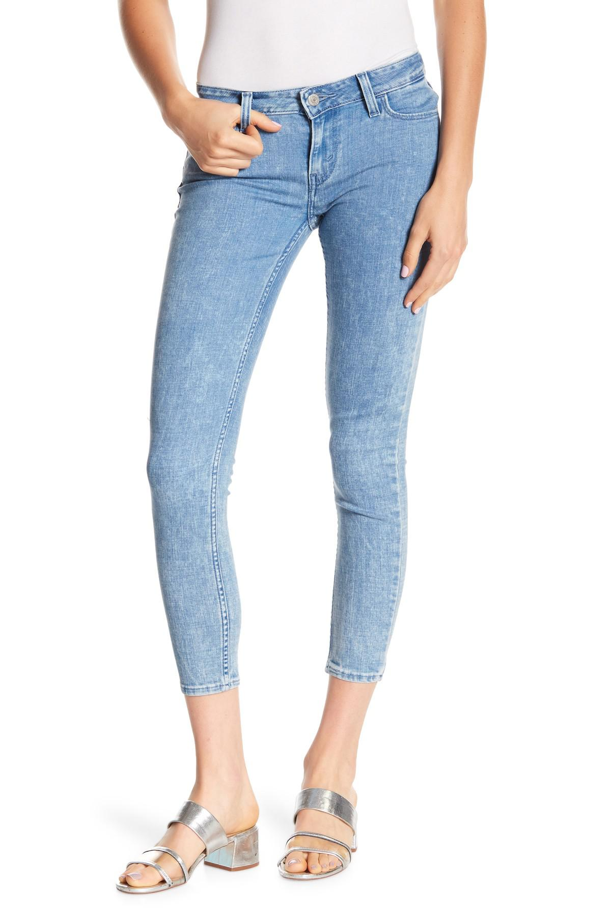 Levi'S 535 Styled Super Skinny Ankle Jeans in Blue
