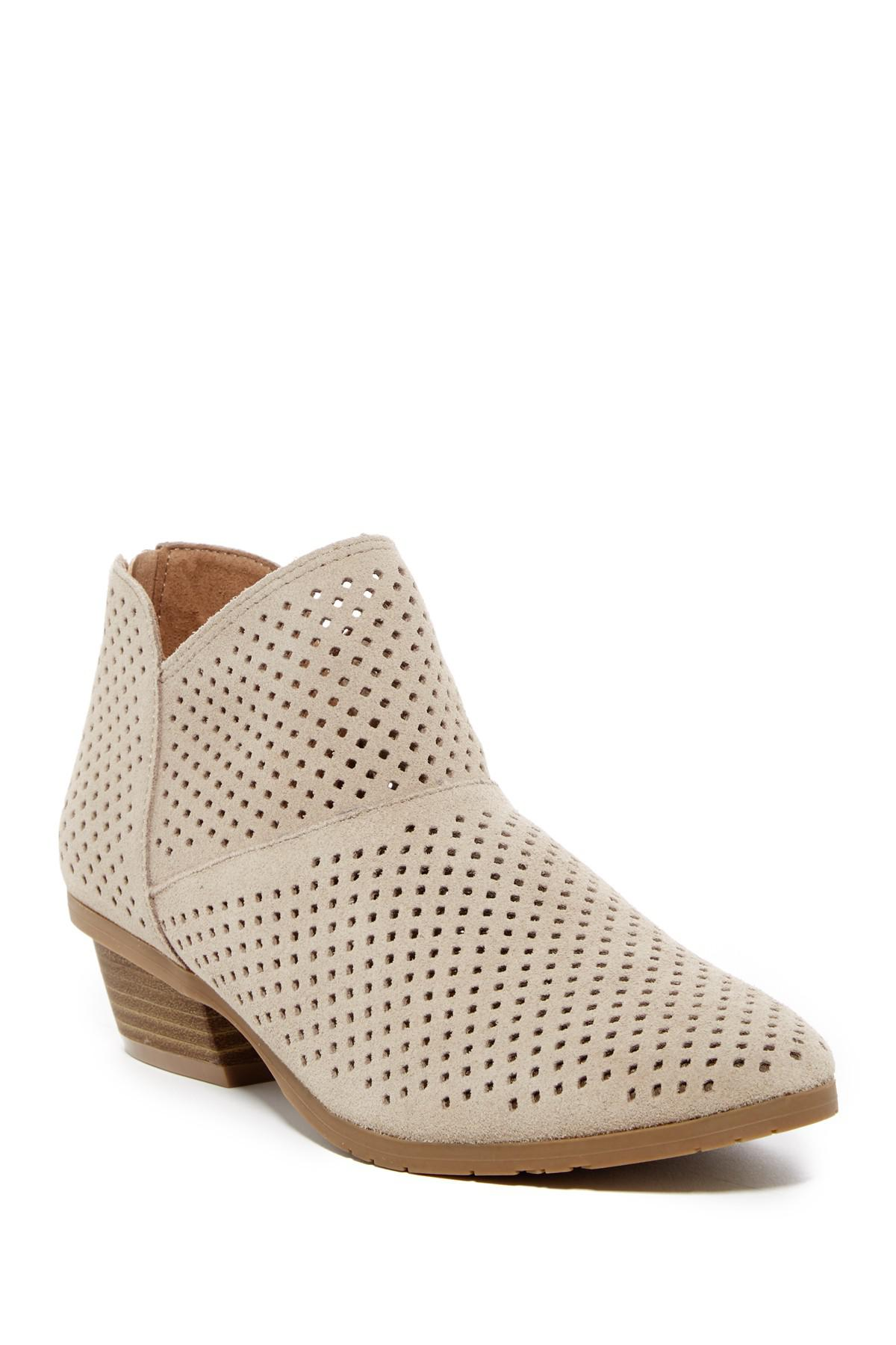 0407dd33d3614 Lyst - Kenneth Cole Reaction Side Walk Suede Ankle Bootie
