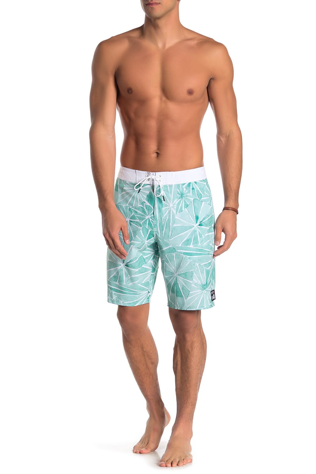 7c49e84a1b60d Lyst - RVCA Blade Trunk in Blue for Men - Save 47%