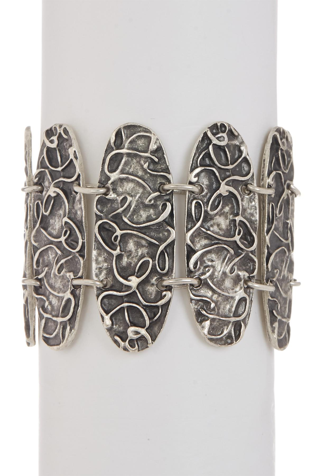 silver billet bracelets layer cohen designs m bracelet link from and layering plate pin two