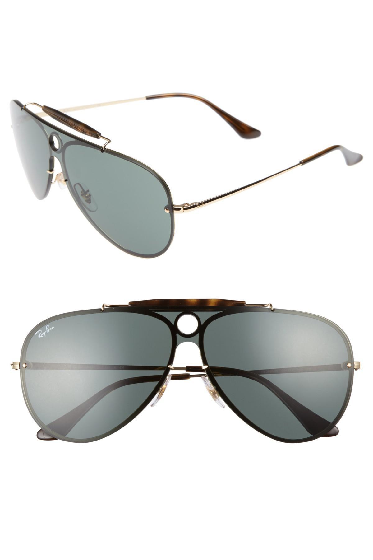1927e26f2 Ray-Ban Blaze Shooter Shield Sunglasses in Metallic - Lyst