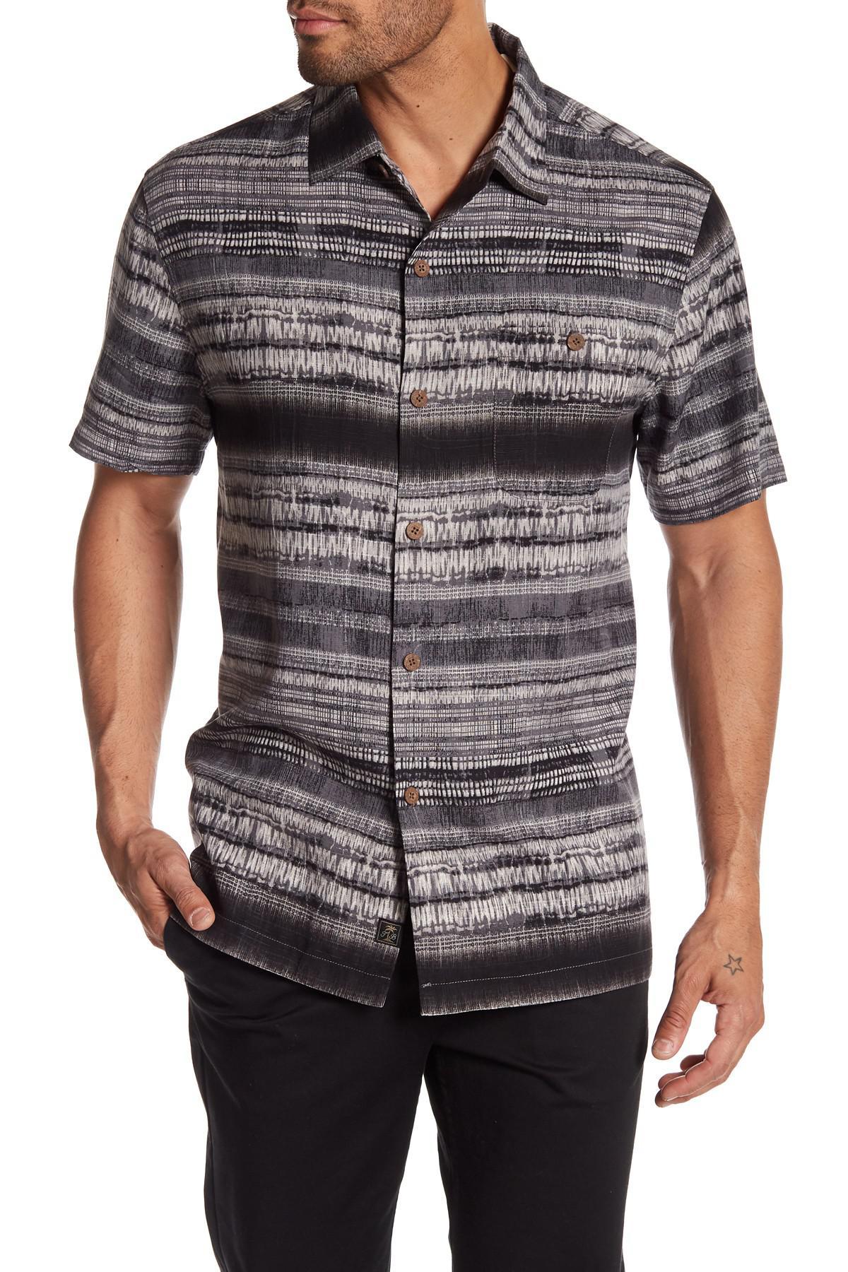 Lyst tommy bahama graphic printed silk short sleeve for Silk short sleeve shirt