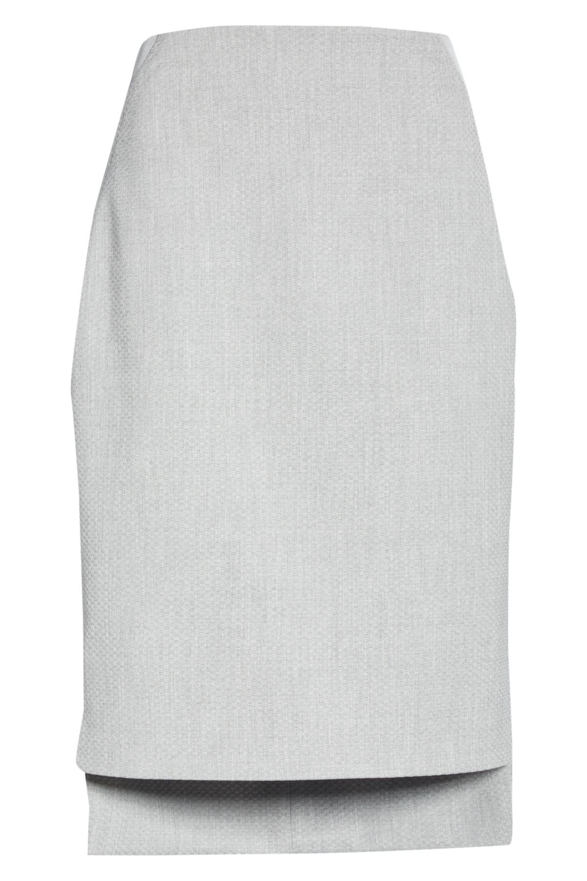 08f84c1c2f821 Lyst - Ted Baker Ted Working Title Daizis Step Hem Pencil Skirt in Gray