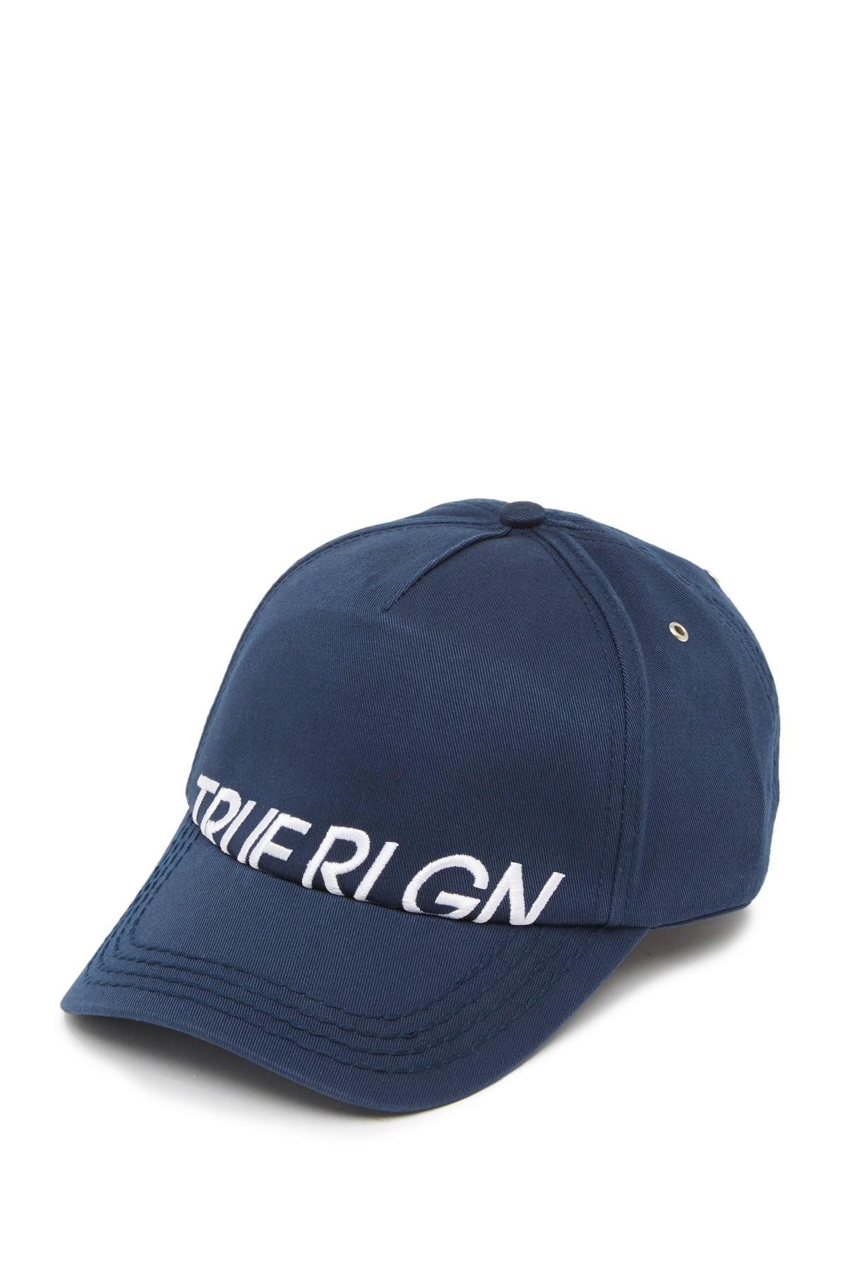 8b0818b7d5568 Lyst - True Religion Partial Name Logo Baseball Cap in Blue for Men