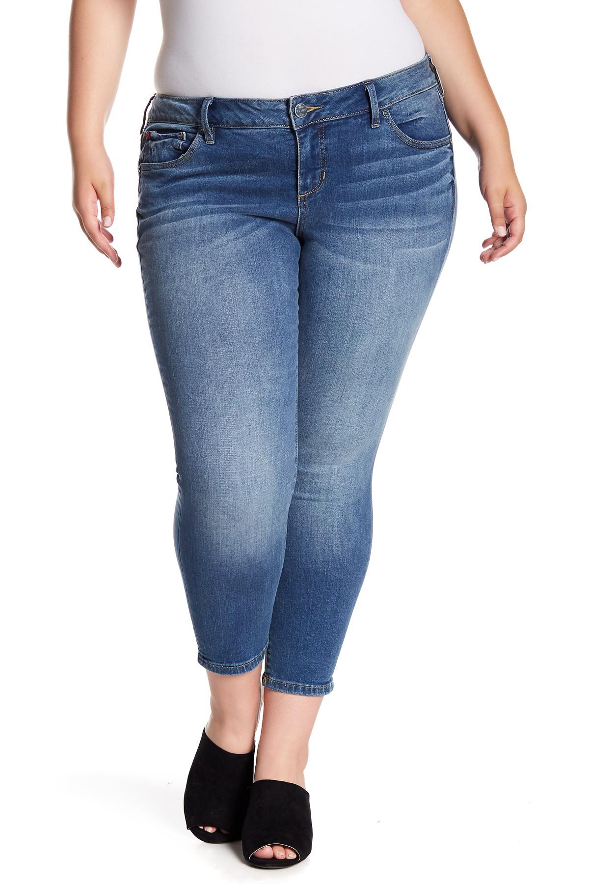 3ad22ea14abc3 Lyst - Slink Jeans Stretch Ankle Jeggings (plus Size) in Blue
