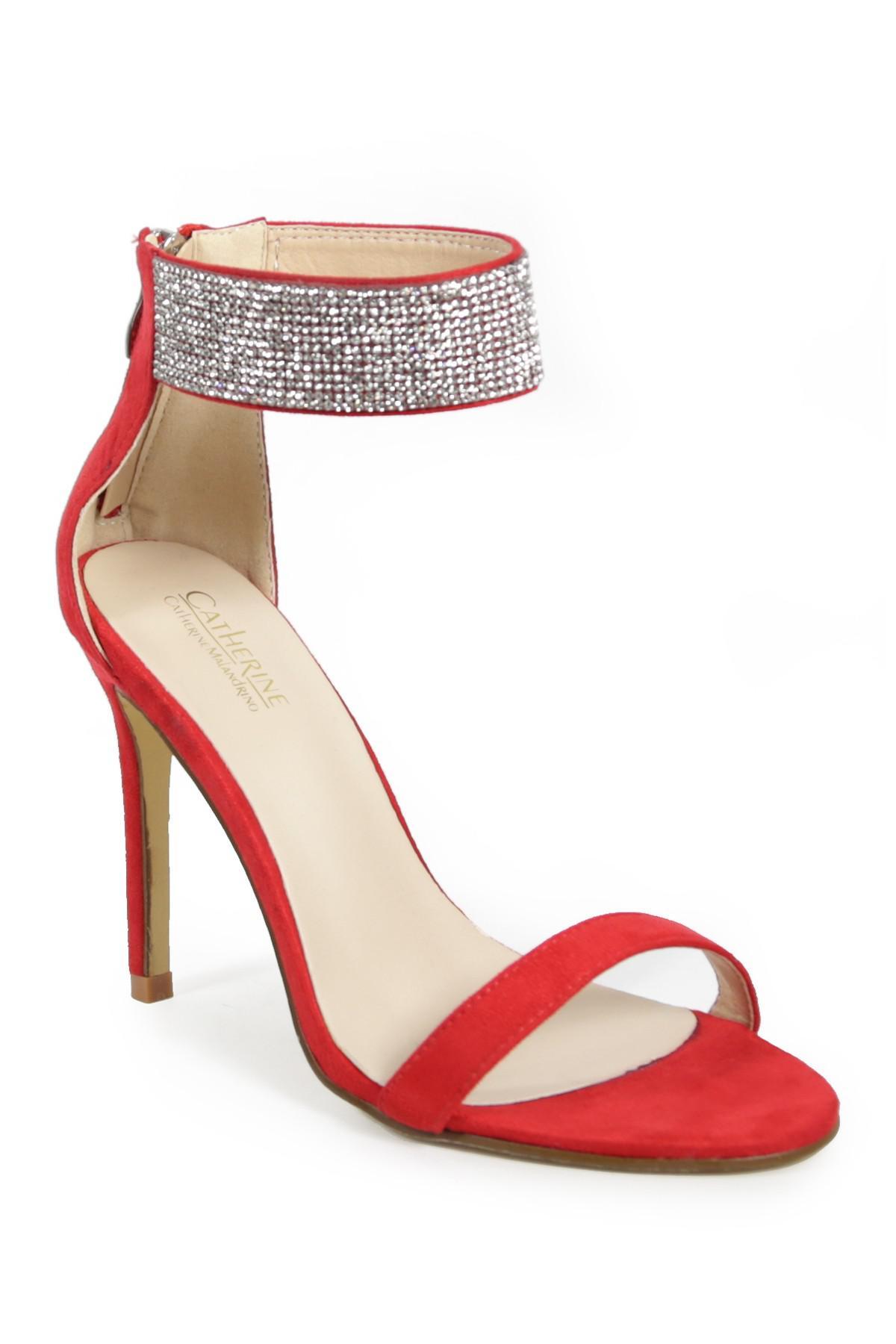 09130f21bf2 Lyst - Catherine Malandrino Stella Crystal Embellished Cuff Stiletto ...
