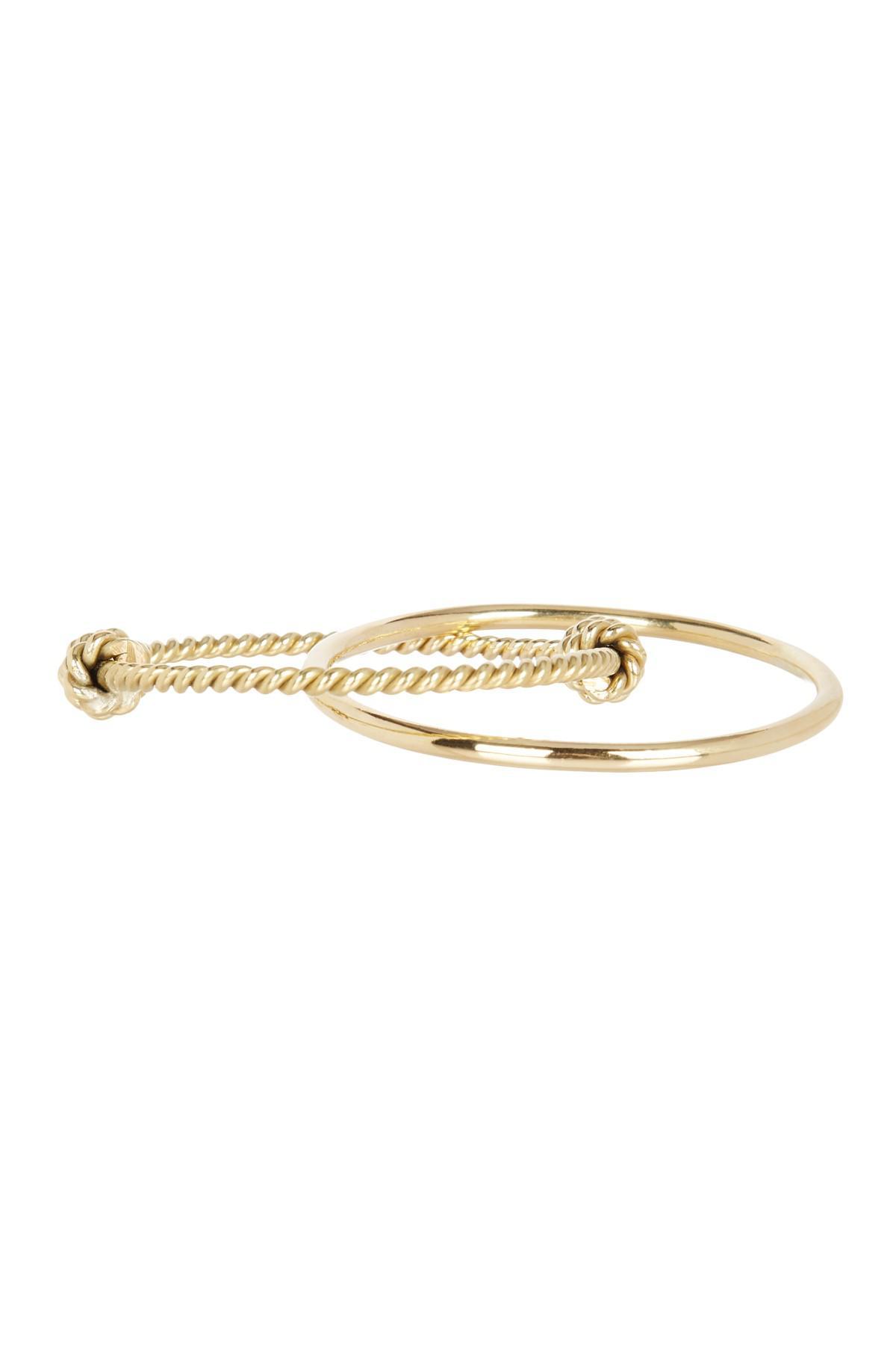A.V. Max Tricolor Golden Twist Cuff Bracelets, Set of 3